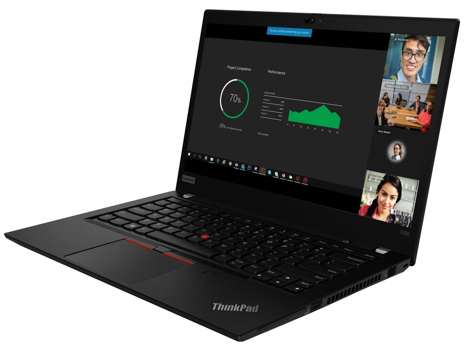 Фото 1. Ноутбук Lenovo ThinkPad T490 Black (20N2000QRT)