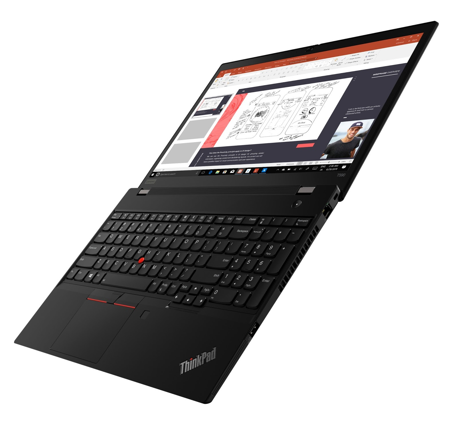 Фото 2. Ноутбук ThinkPad T590 (20N4002URT)