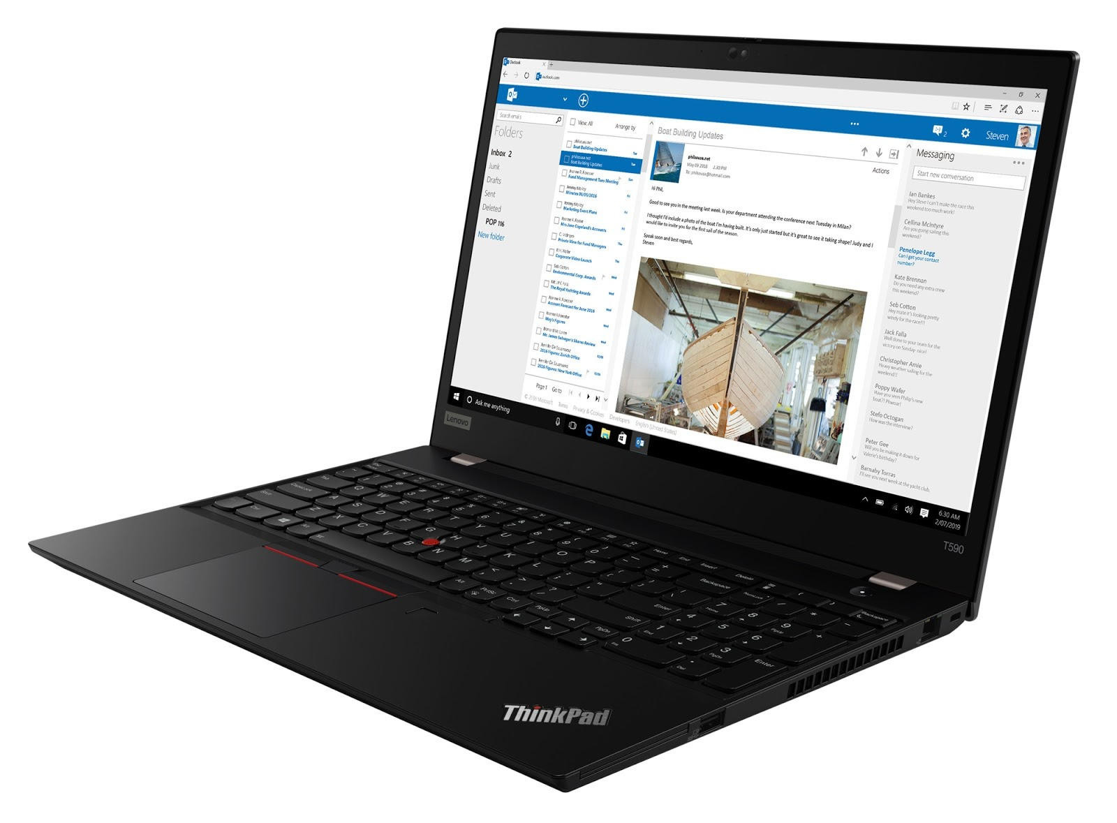 Фото 3. Ноутбук ThinkPad T590 (20N4002URT)