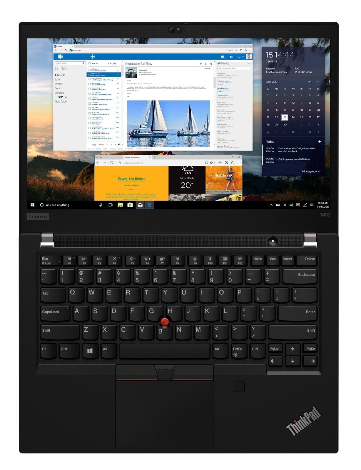 Фото 3. Ноутбук Lenovo ThinkPad T490 Black (20N2000CRT)