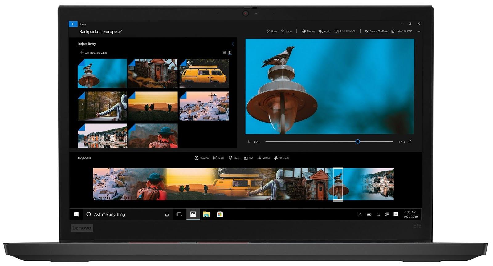 Фото 1. Ноутбук Lenovo ThinkPad E15 Black (20RD001BRT)