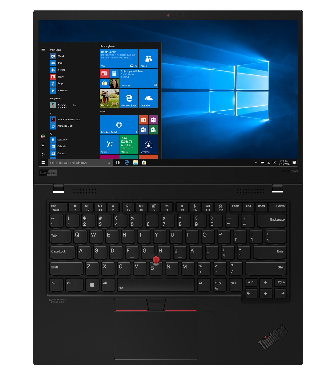 Фото 2. Ноутбук Lenovo ThinkPad X1 Carbon Gen 7 Black (20QD003CRT)