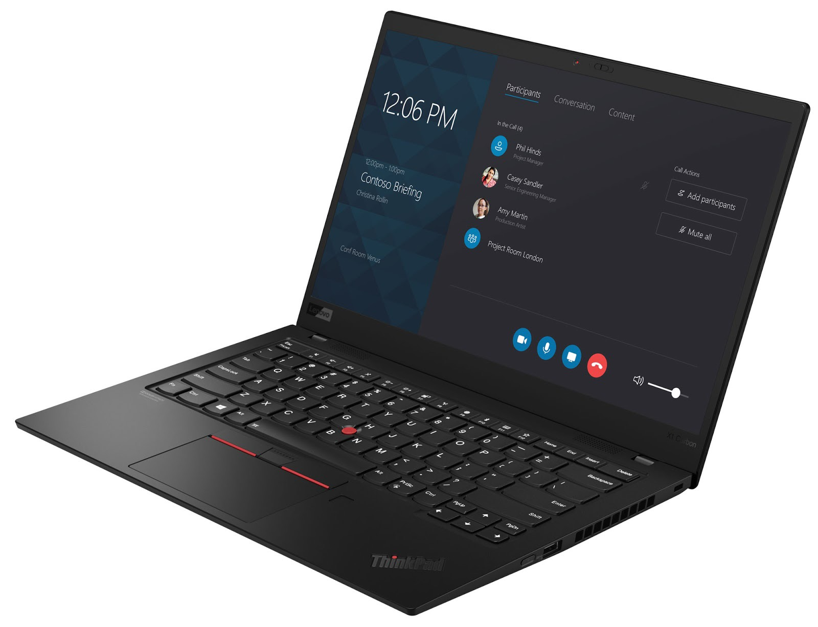 Фото 3. Ноутбук Lenovo ThinkPad X1 Carbon Gen 7 Black (20QD003CRT)