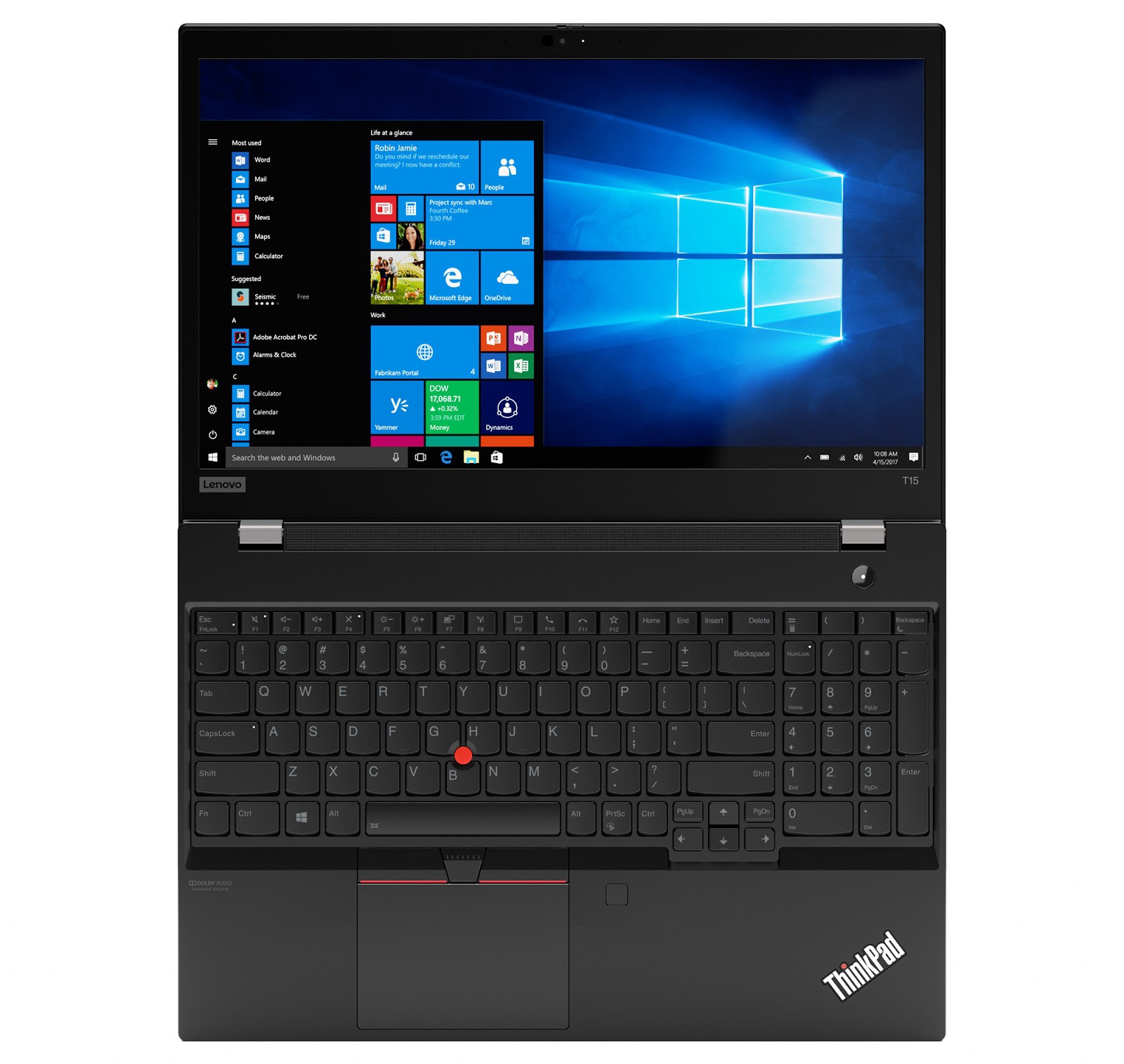 Фото 2. Ноутбук Lenovo ThinkPad T15 Gen 1 Black (20S6001YRT)