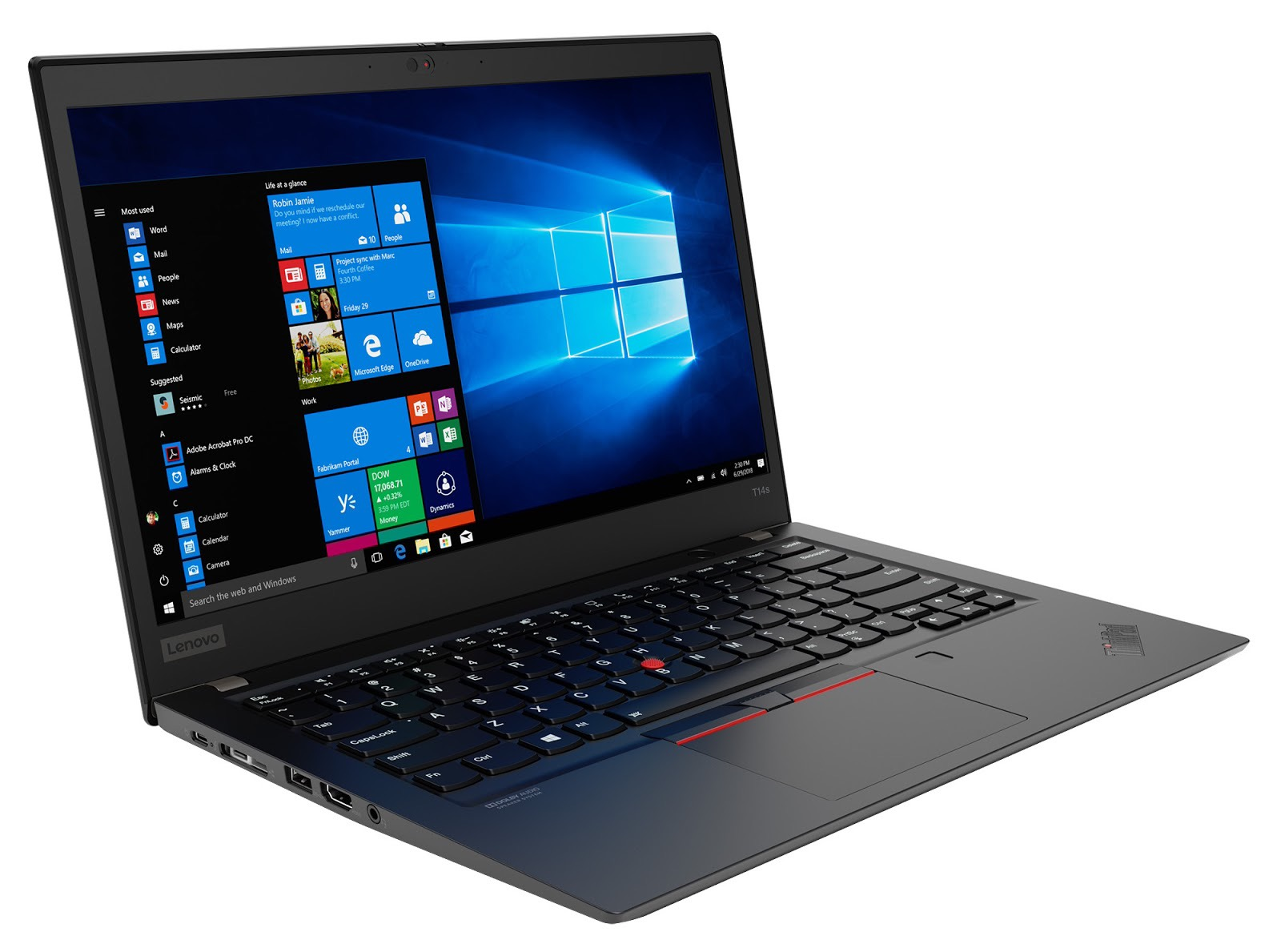 Фото 3. Ноутбук Lenovo ThinkPad T14s Gen 1 Black (20T00016RT)