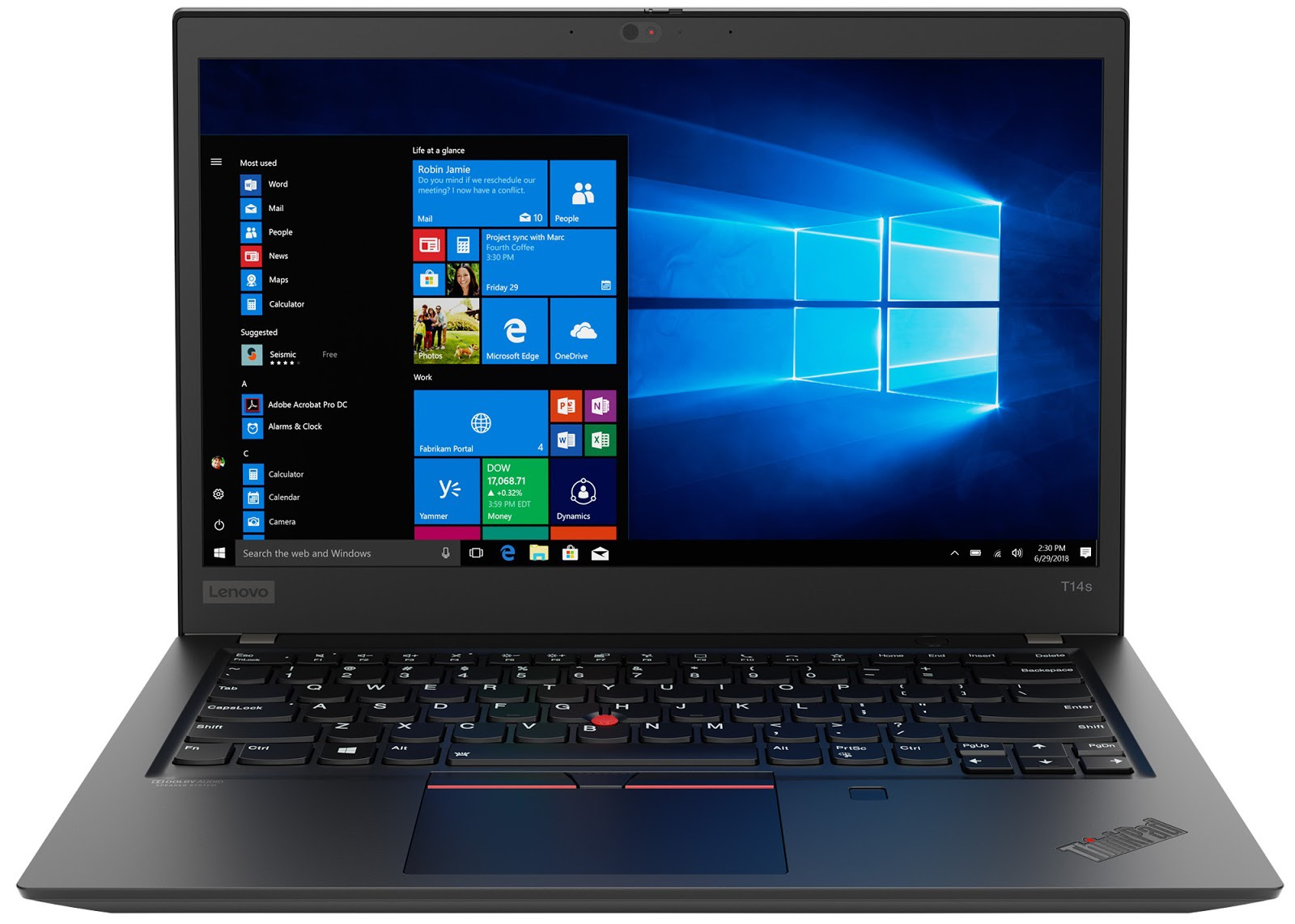 Фото 1. Ноутбук Lenovo ThinkPad T14s Gen 1 Black (20T00020RT)