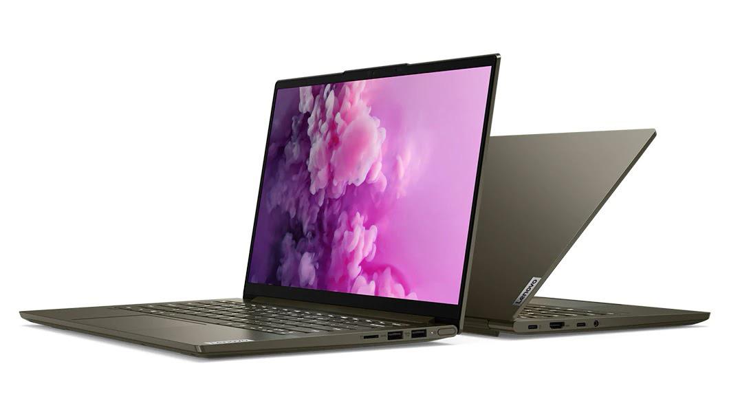 Фото 2. Ноутбук Lenovo YOGA Slim 7i 14IIL05 Dark Moss (82A100CDRE)