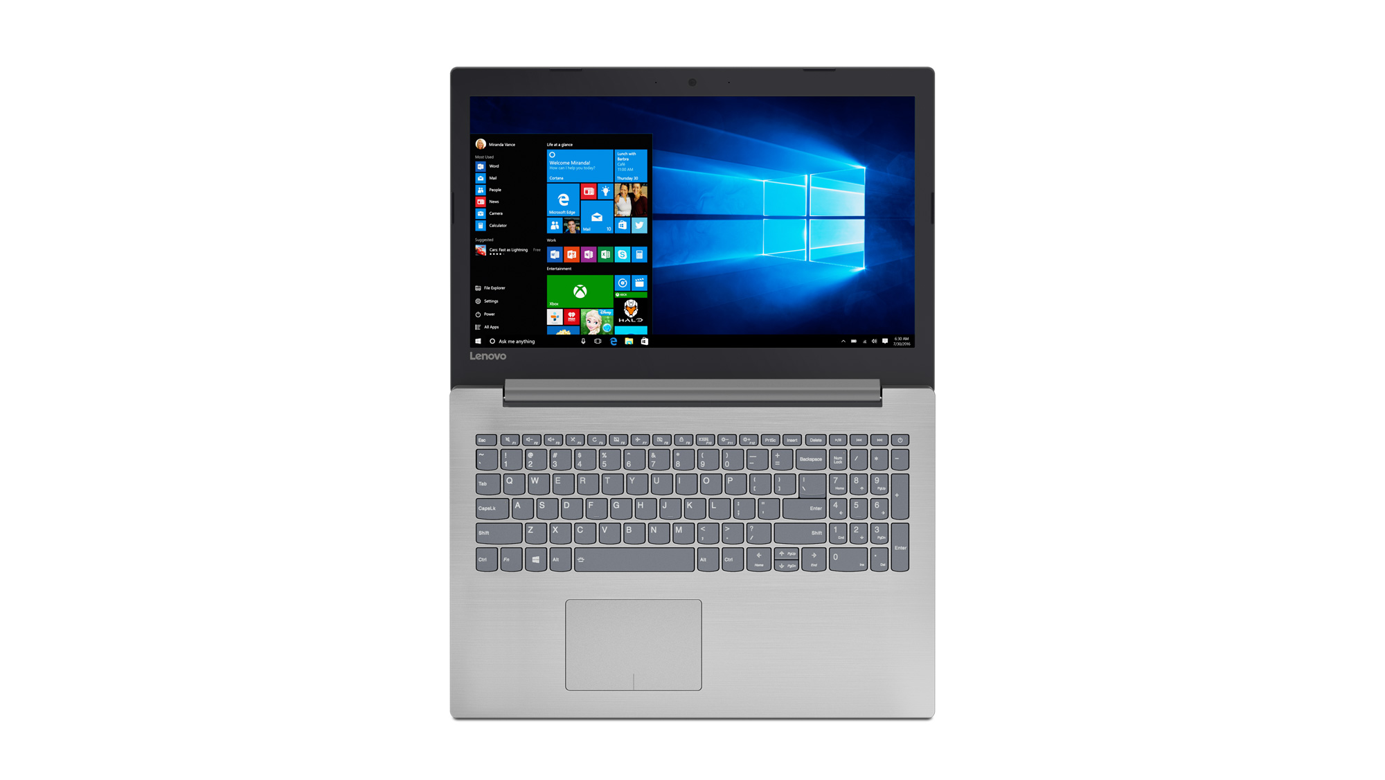 Фото  Ноутбук Lenovo ideapad 320-15 PLATINUM GREY (80XL03GSRA)