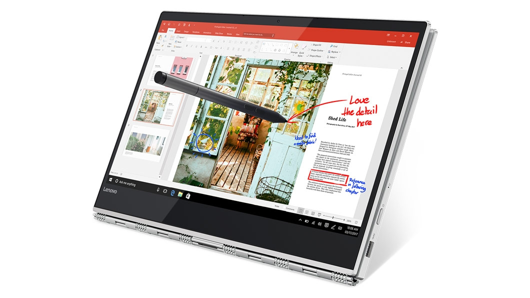Фото  Ультрабук Lenovo Yoga 920 Vibes (Glass) Platinum (80Y8003XRA)