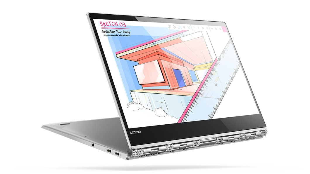 Фото  Ультрабук Lenovo Yoga 920 Vibes (Glass) Platinum (80Y8003YRA)