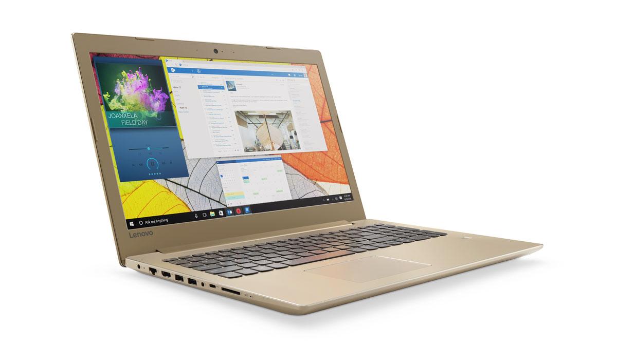 Фото  Ноутбук Lenovo ideapad 520-15IKB Golden (80YL00LBRA)