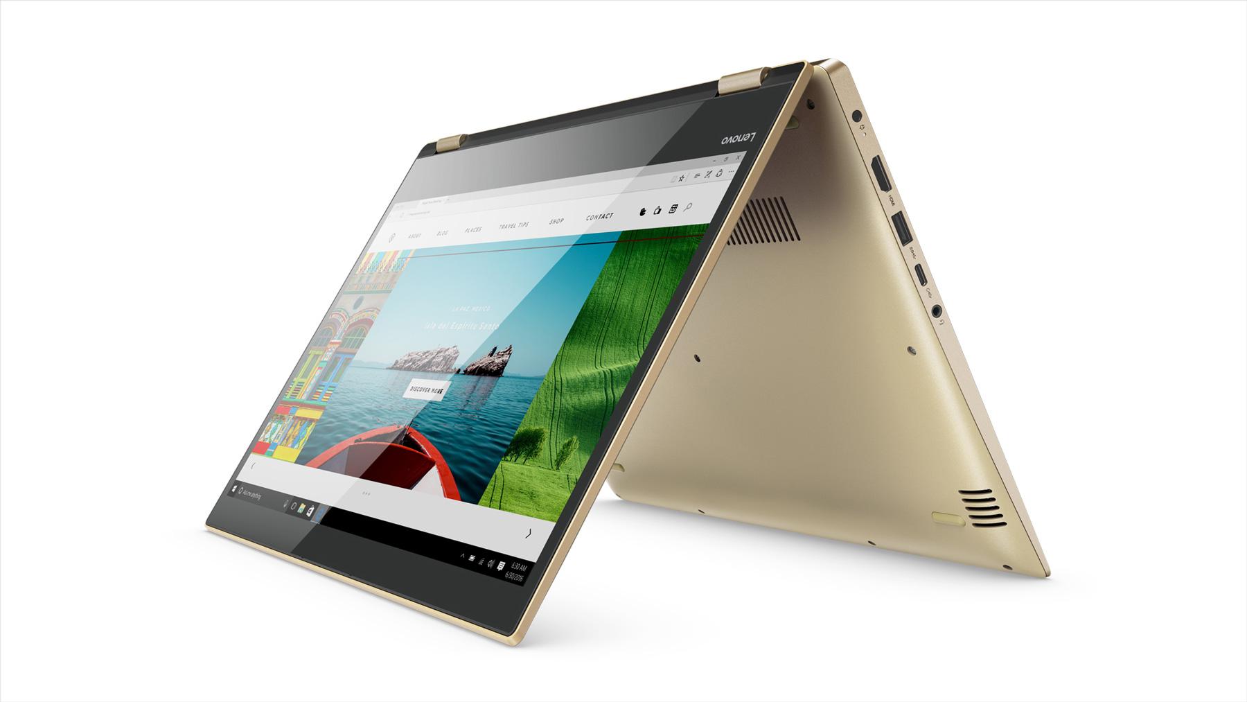 Фото  Ультрабук Lenovo Yoga 520  Gold Metalli (81C800F6RA)