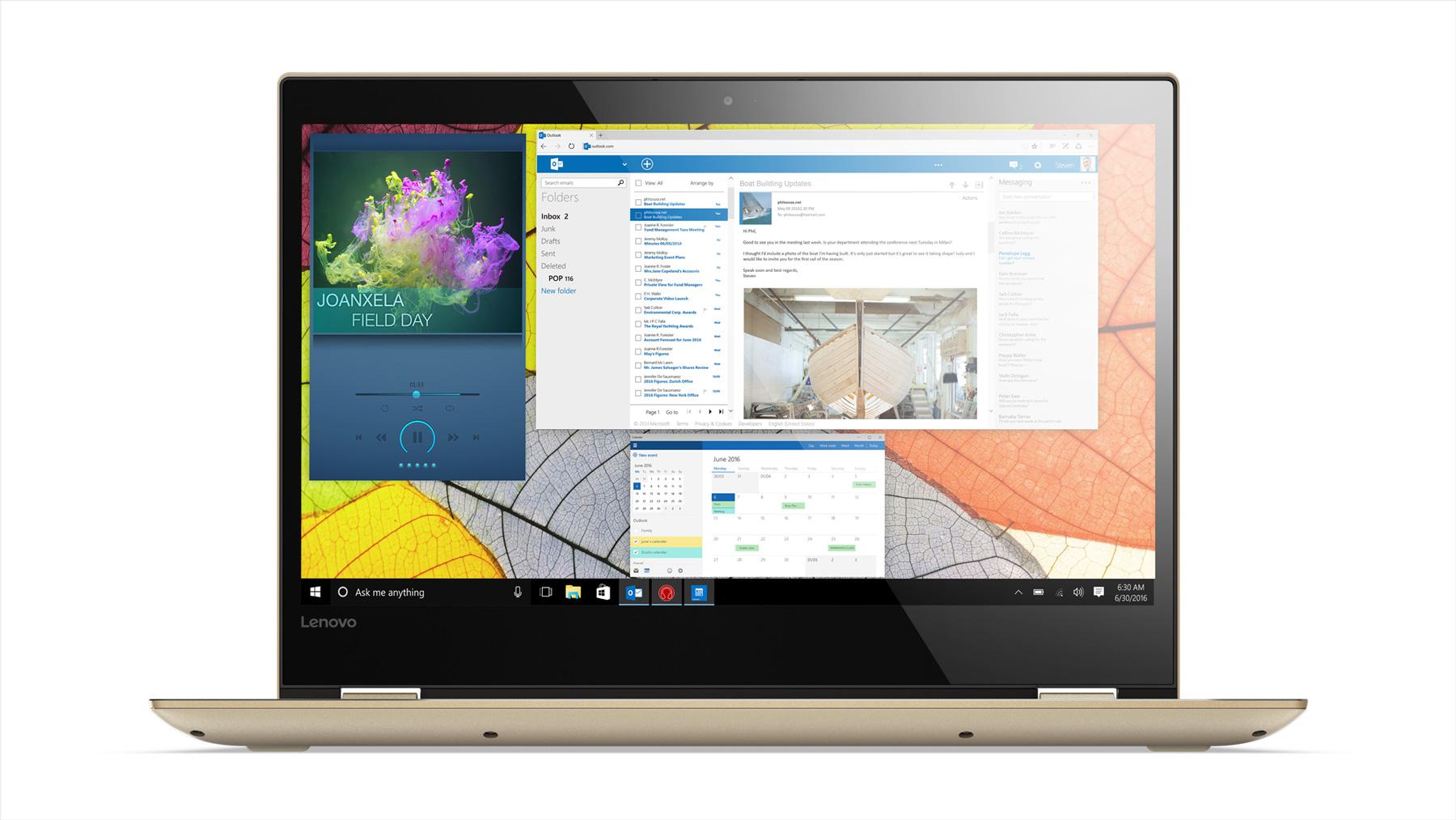 Фото  Ультрабук Lenovo Yoga 520 Gold Metallic (81C800FCRA)