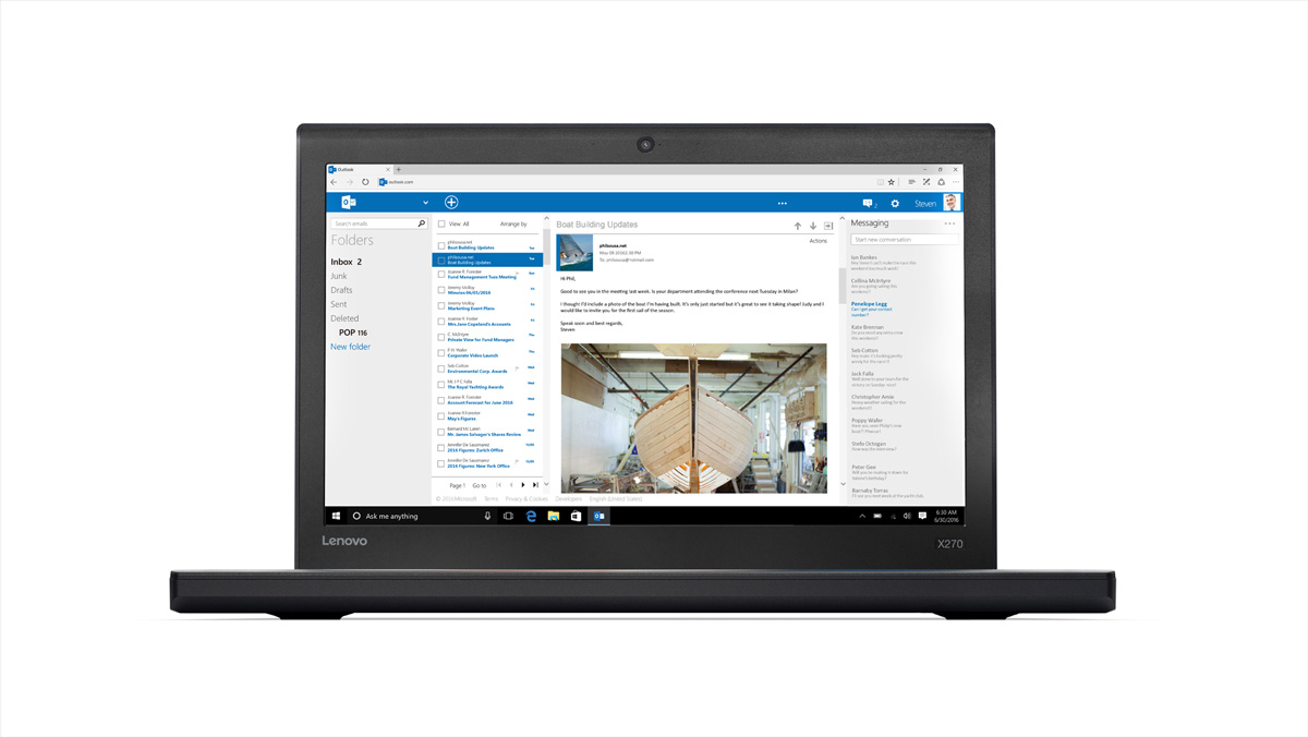 Фото  Ноутбук ThinkPad X270 (20HN005URT)