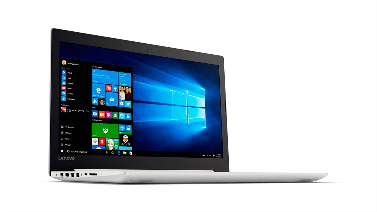 Фото  Ноутбук Lenovo ideapad 320-15 Blizzard White (80XH00WURA)
