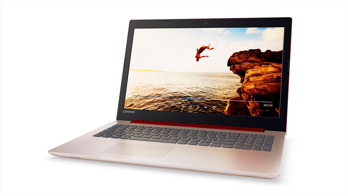 Фото  Ноутбук Lenovo ideapad 320-15 Coral Red (80XH01XMRA)