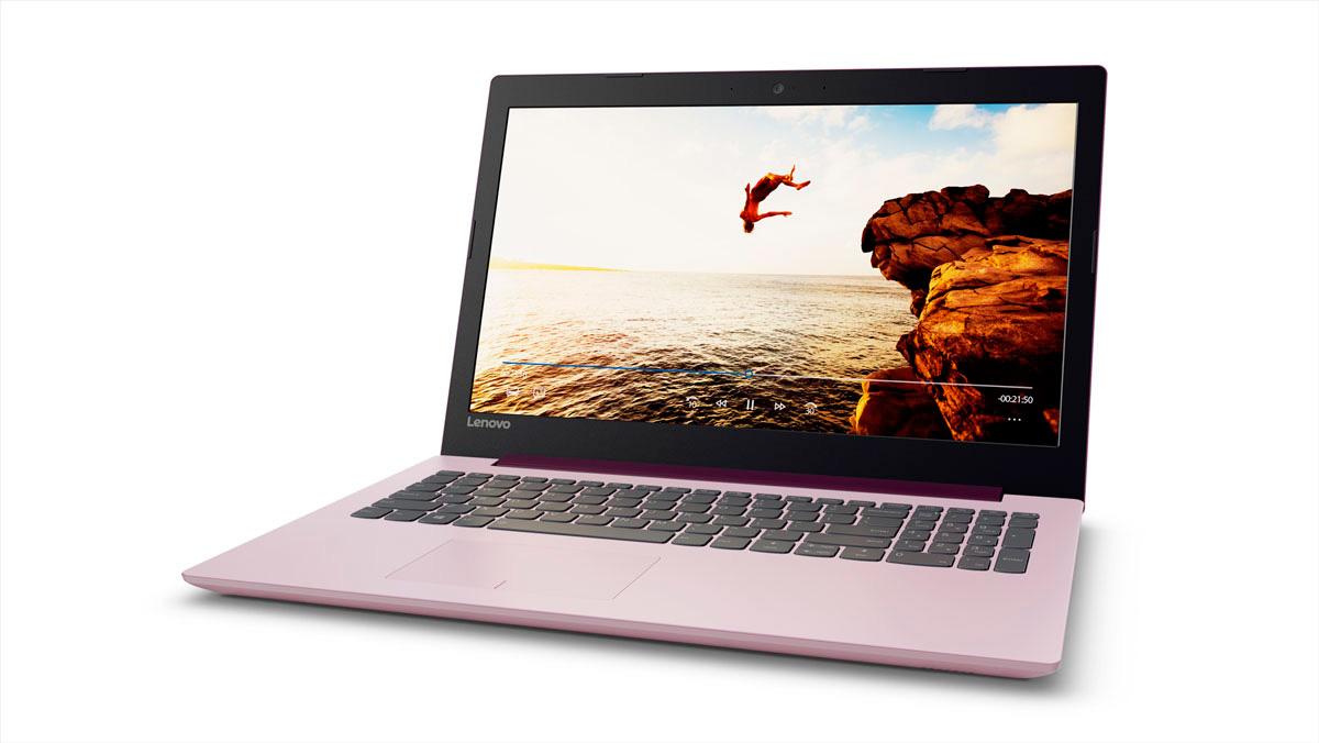 Фото  Ноутбук Lenovo ideapad 320-15 Plum Purple (80XH00YMRA)