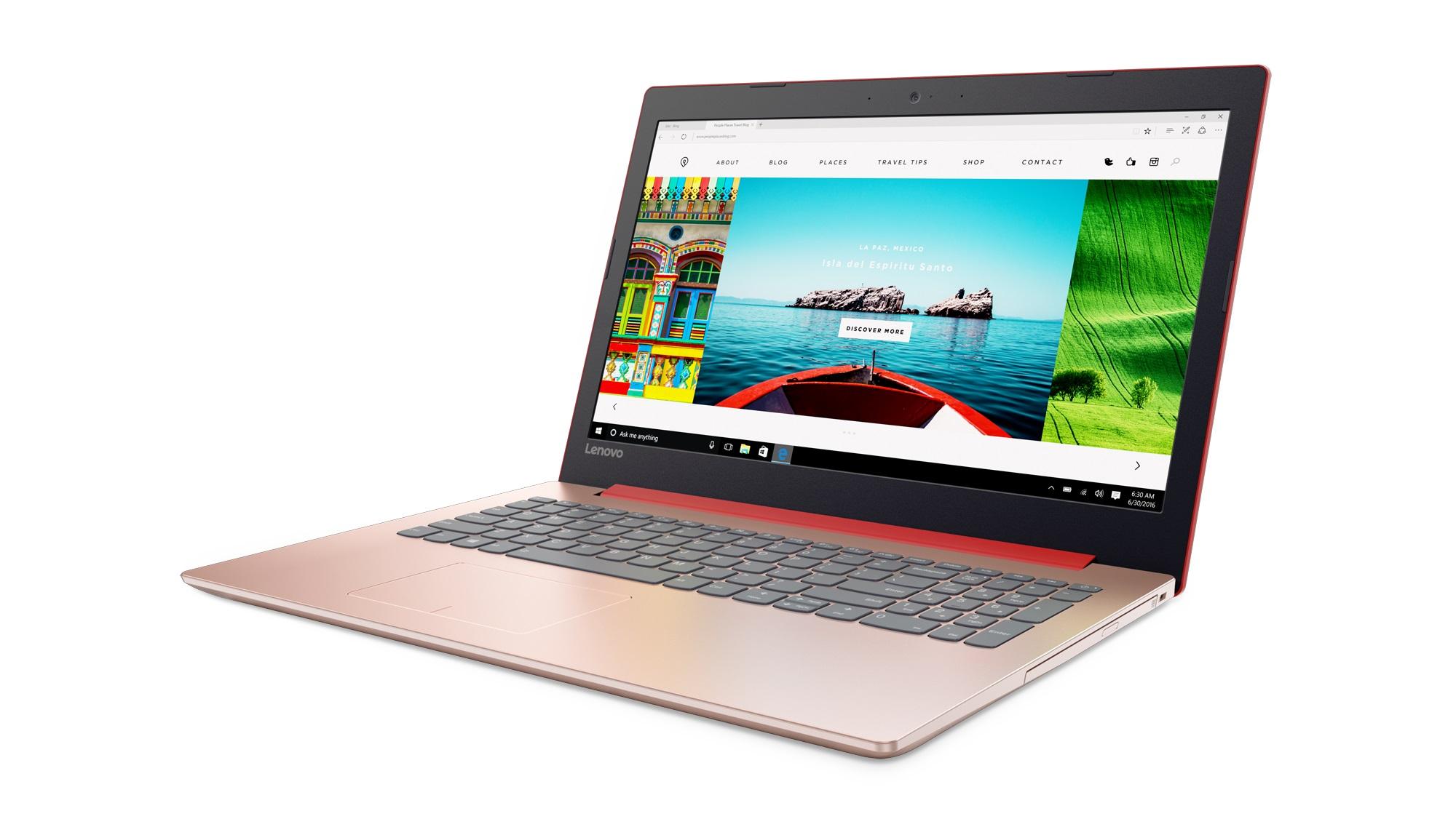 Фото  Ноутбук Lenovo ideapad 320-15ISK Coral Red (80XH022URA)