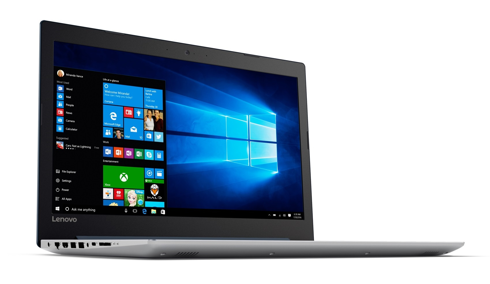 Фото  Ноутбук Lenovo ideapad 320-15ISK Denim Blue (80XH020GRA)