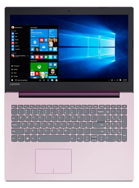 Фото  Ноутбук Lenovo ideapad 320-15ISK Plum Purple (80XH020ERA)