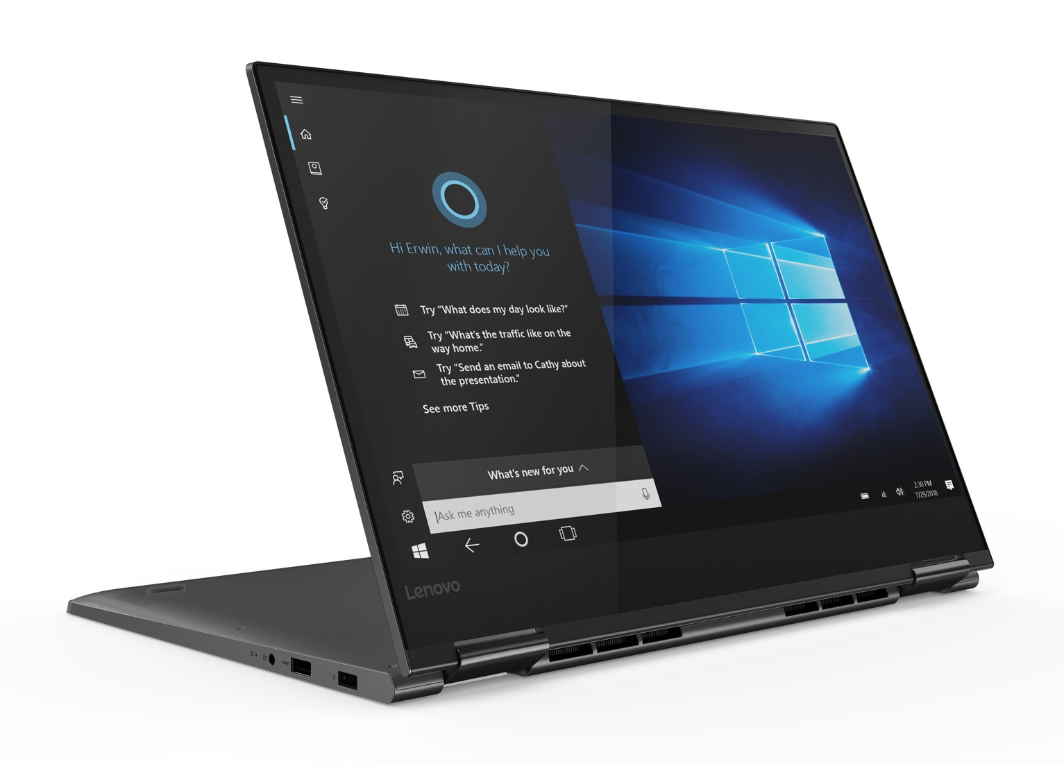 Фото  Ультрабук Lenovo Yoga 730-15IKB Iron Grey (81CU0018RU)