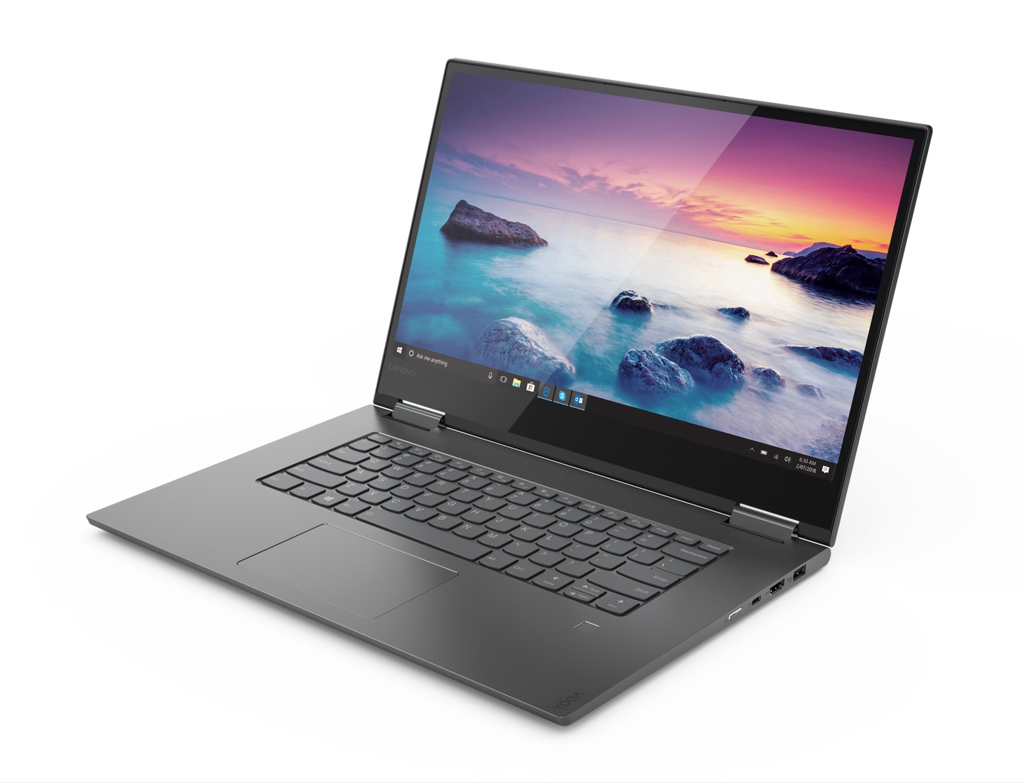 Фото  Ультрабук Lenovo Yoga 730 Iron Grey (81CU004YRA)