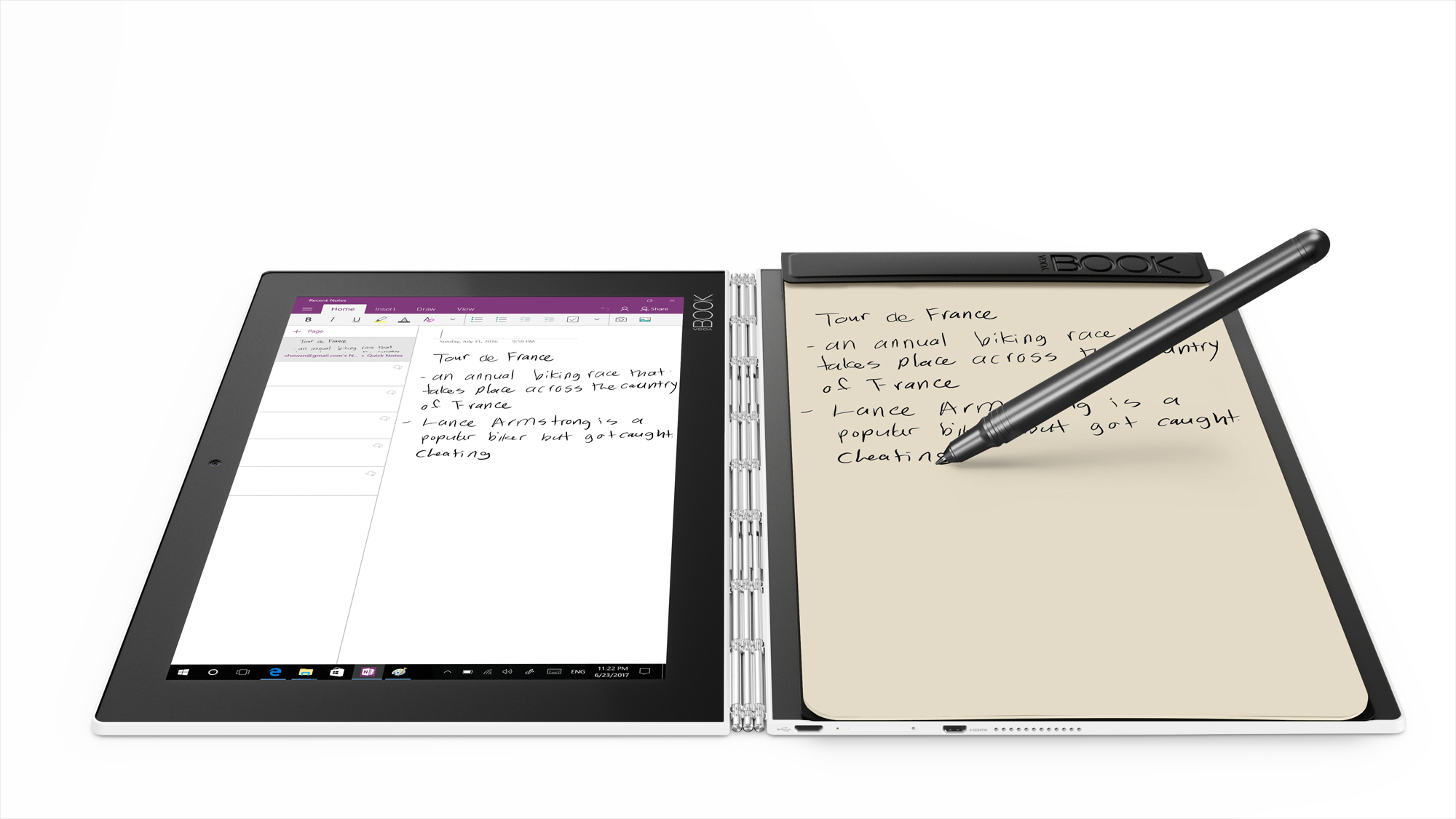 "Фото  Планшет YOGA Book 10"" 128GB LTE Windows Pearl White (ZA160135UA)"