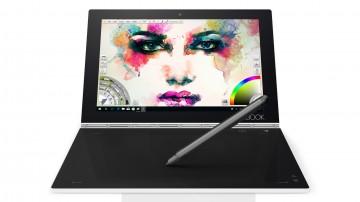 "Фото 4 Планшет YOGA Book 10"" 128GB LTE Windows Pearl White (ZA160135UA)"