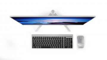 Фото 3 Моноблок Lenovo ideacentre 520s-23 (F0CU006QUA) Silver
