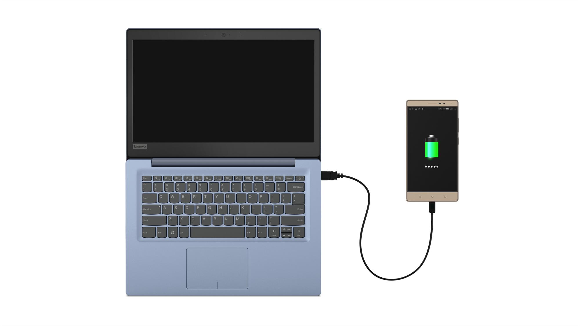 Фото  Ноутбук Lenovo ideapad 120S-11 Denim Blue (81A400DARA)