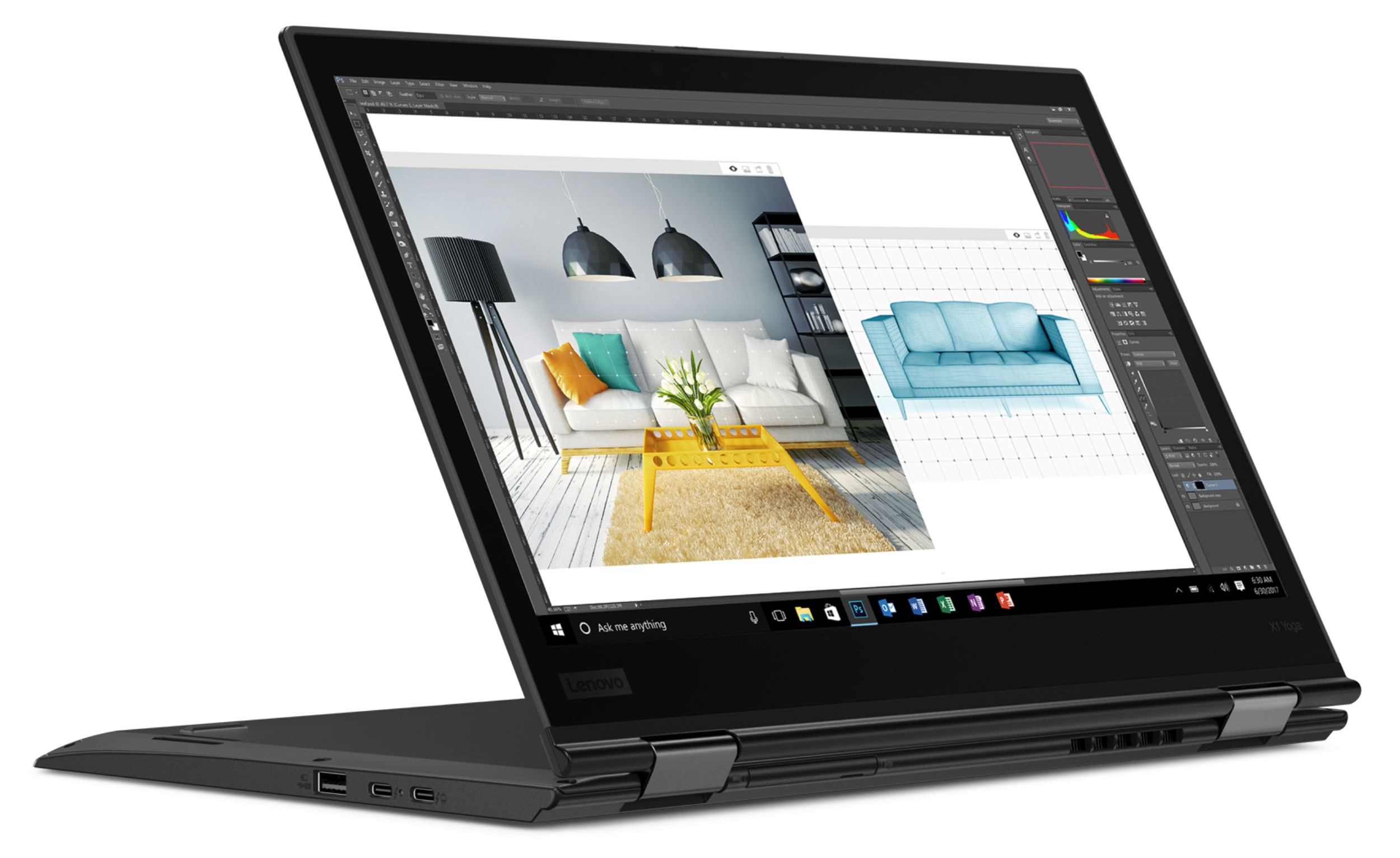 Фото  Ультрабук ThinkPad X1 Yoga 3rd Gen (20LD002KRT)