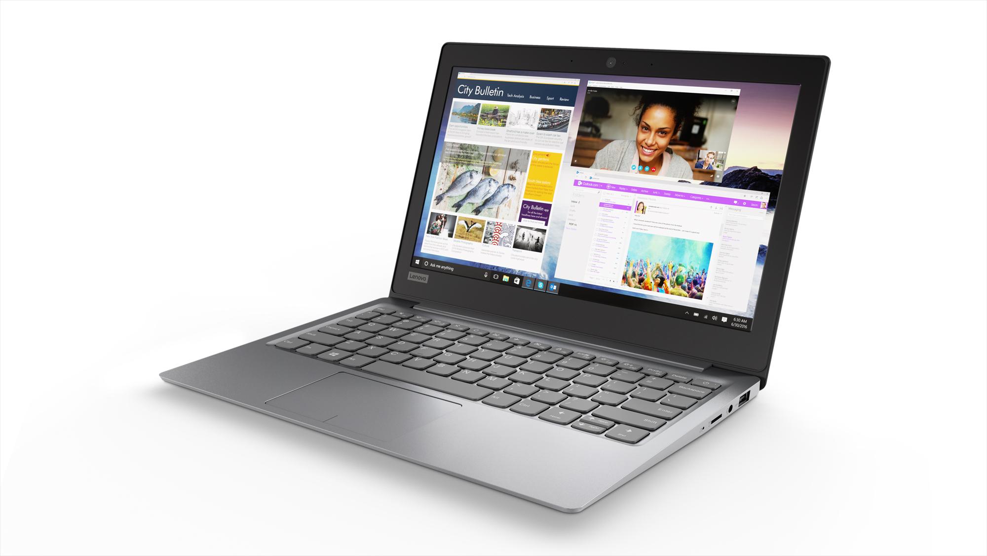 Фото  Ноутбук Lenovo ideapad 120S-11 Mineral Grey (81A400CNRA)
