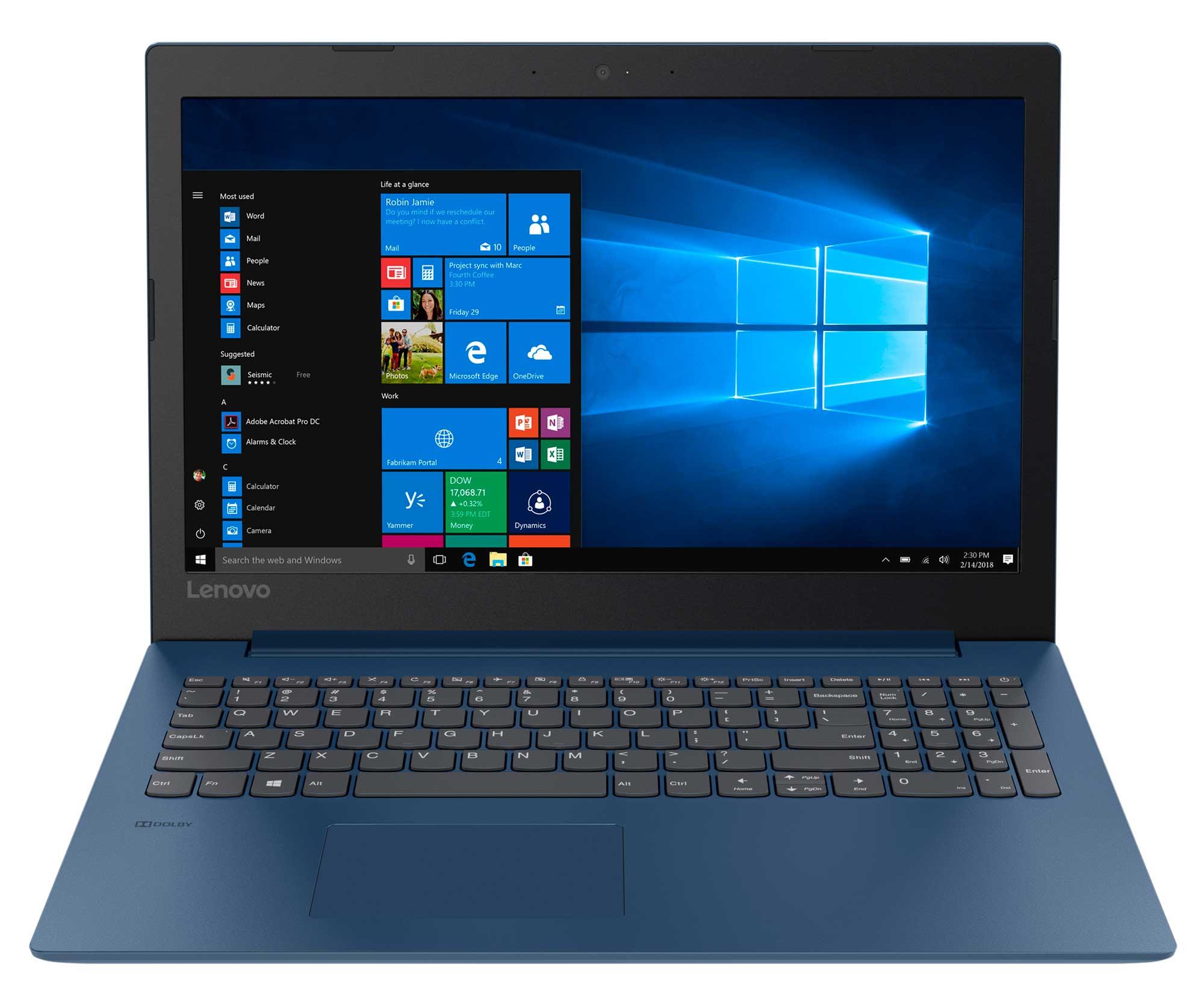 Фото  Ноутбук Lenovo ideapad 330-15 Midnight Blue (81DC00RURA)