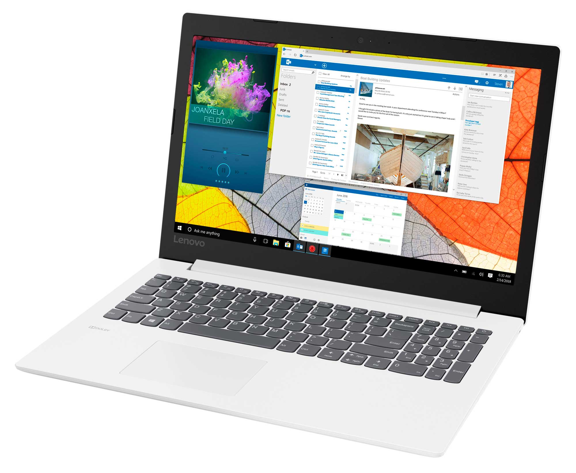 Фото  Ноутбук Lenovo ideapad 330-15 Blizzard White (81D100M4RA)
