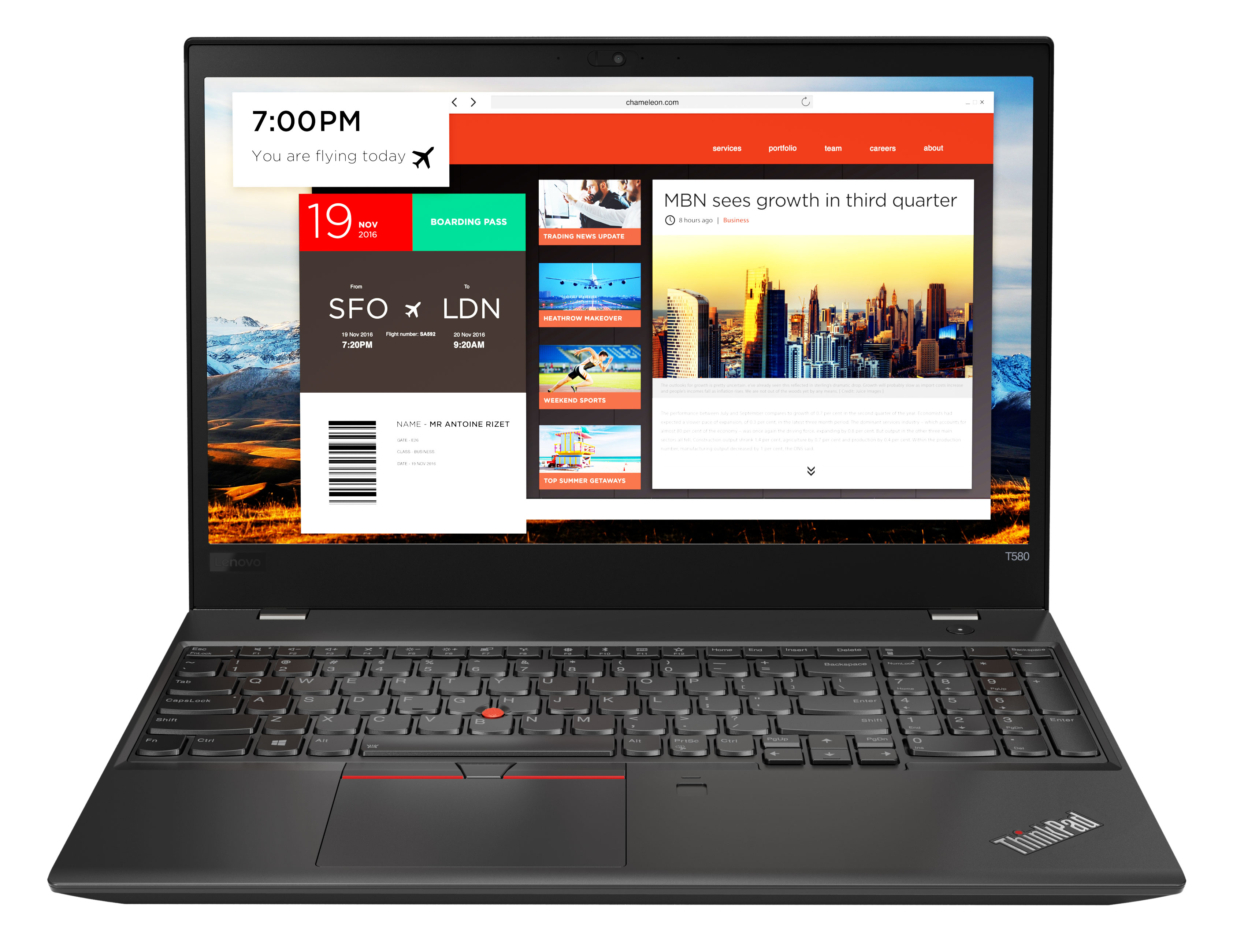 Фото  Ноутбук ThinkPad T580 (20L90022RT)
