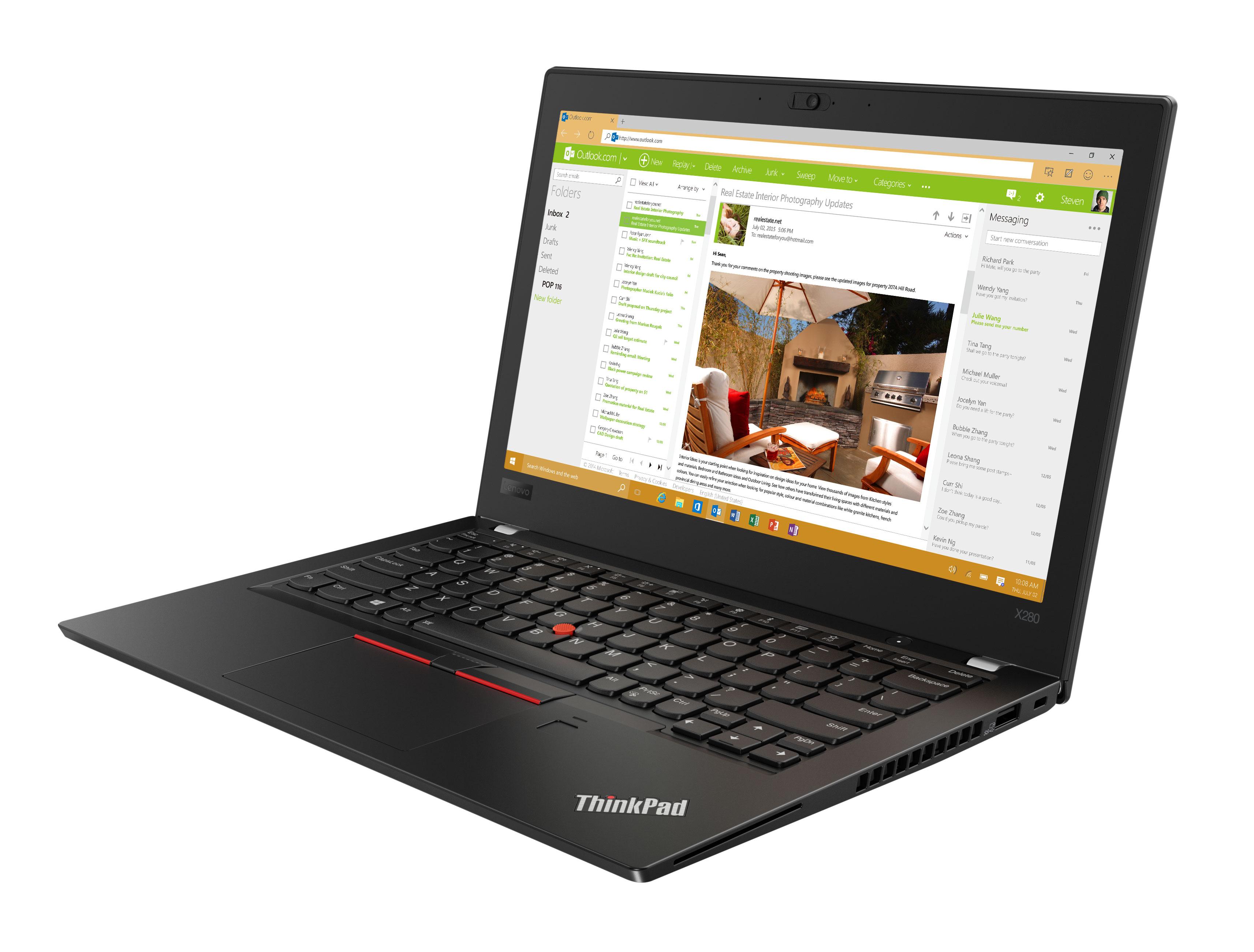 Фото  Ноутбук ThinkPad X280 (20KE001NRT)
