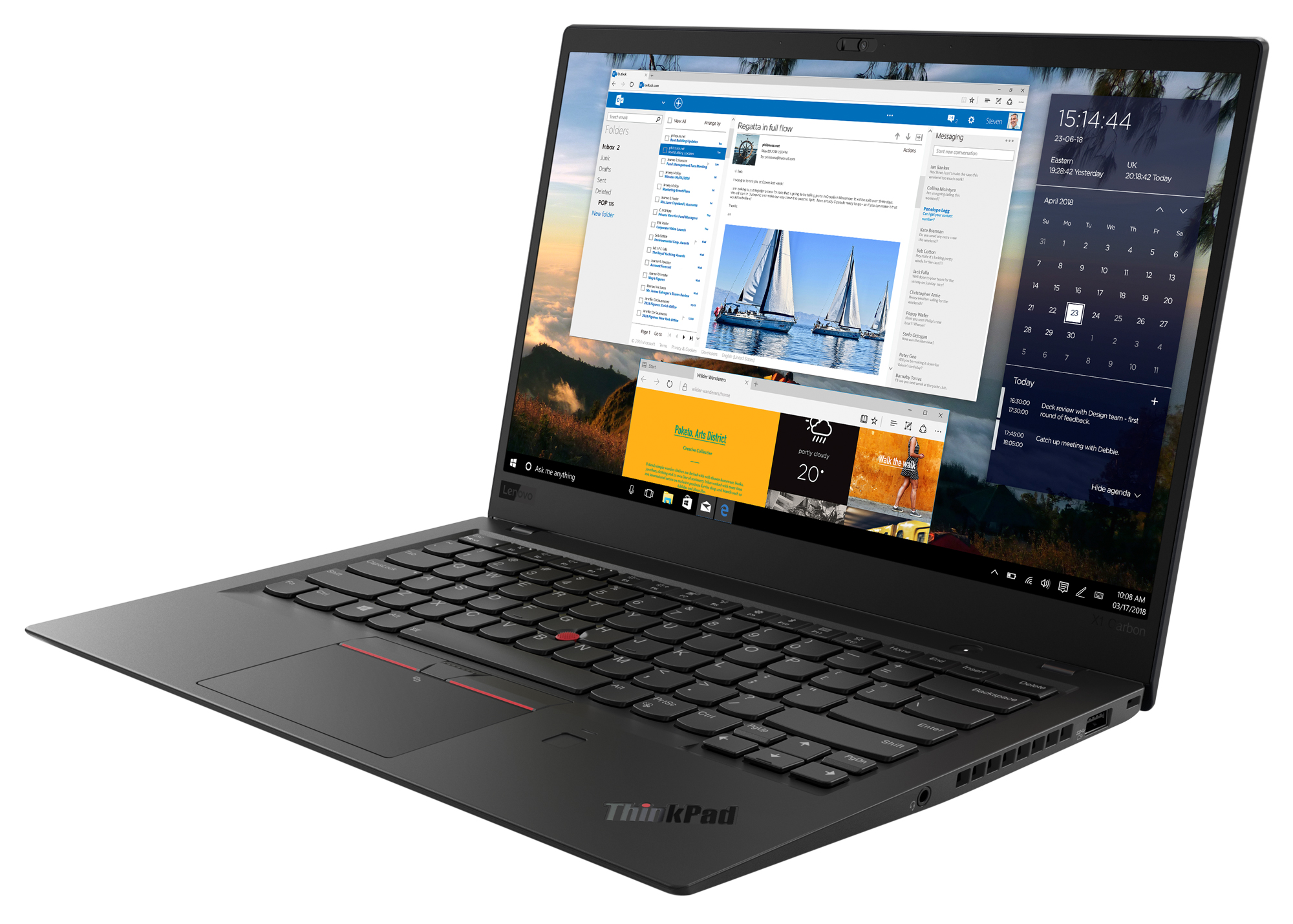 Фото  Ультрабук ThinkPad X1 Carbon 6th Gen (20KGS4MF01)