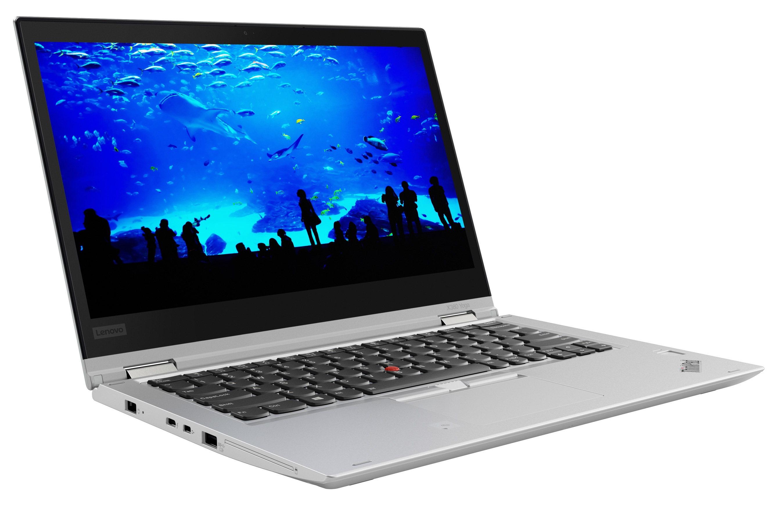 Фото  Ноутбук ThinkPad X380 Yoga Silver (20LH001NRT)