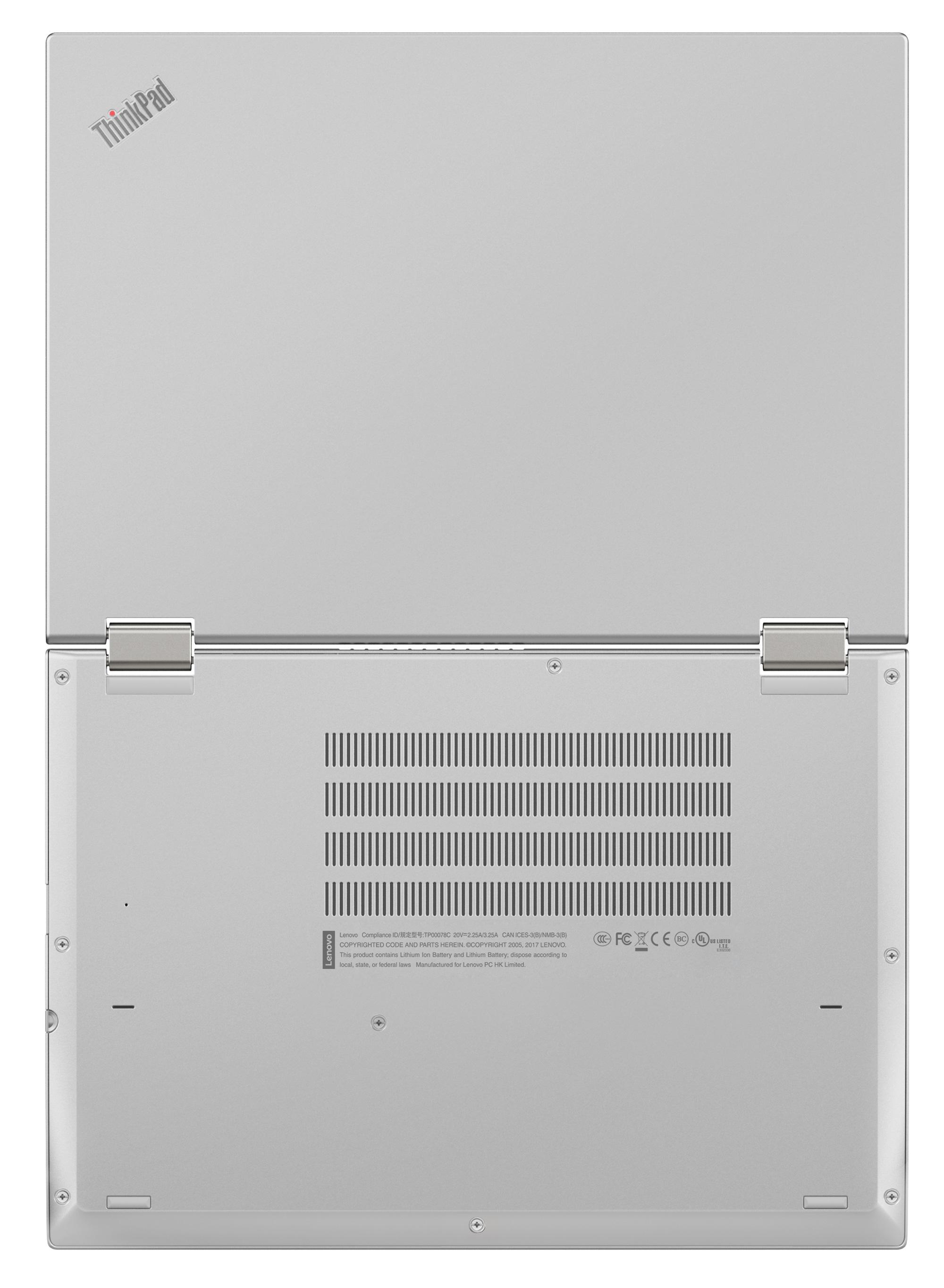 Фото  Ноутбук ThinkPad X380 Yoga Silver (20LH001PRT)