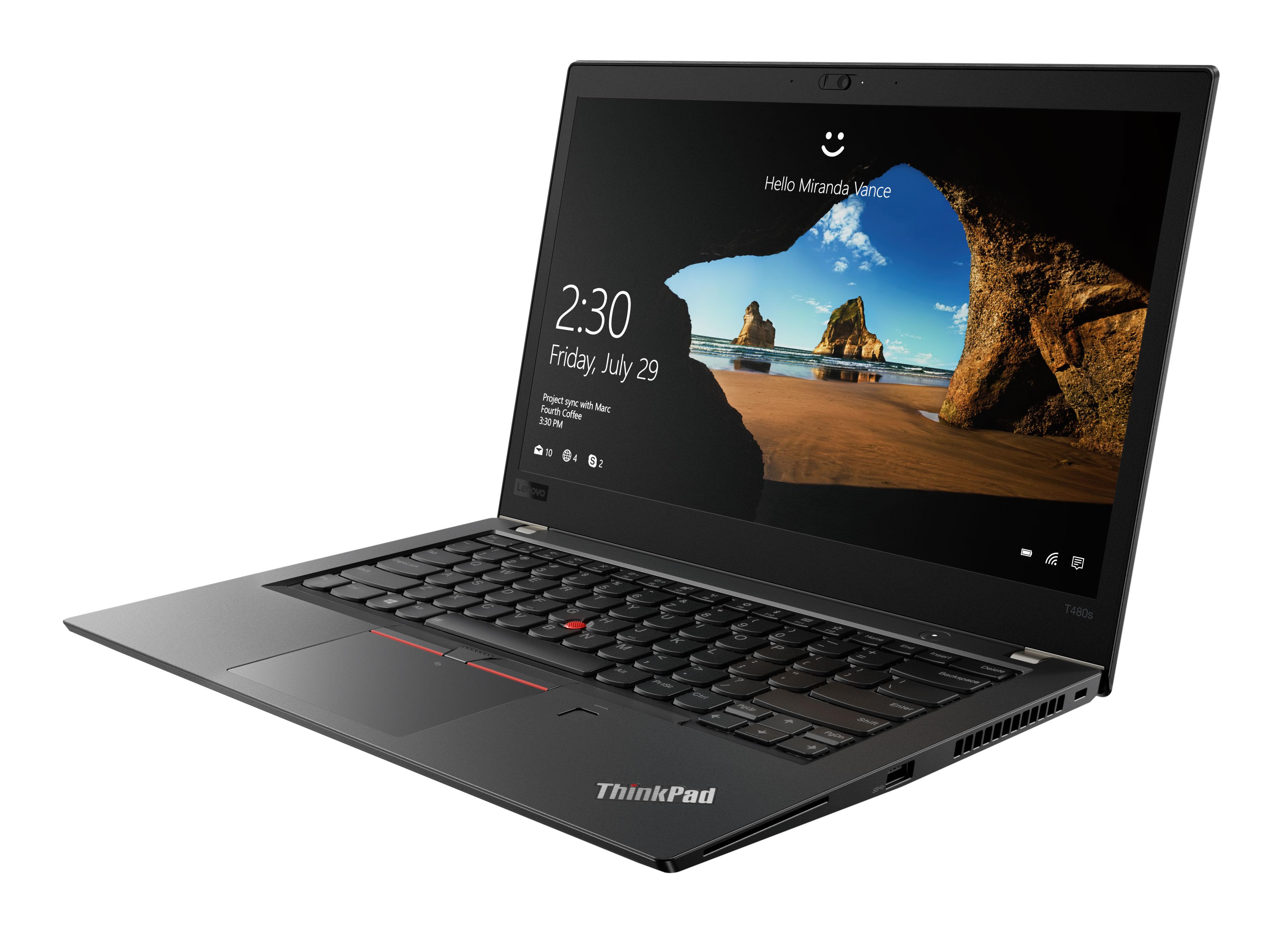 Фото  Ноутбук ThinkPad T480s (20L7004MRT)