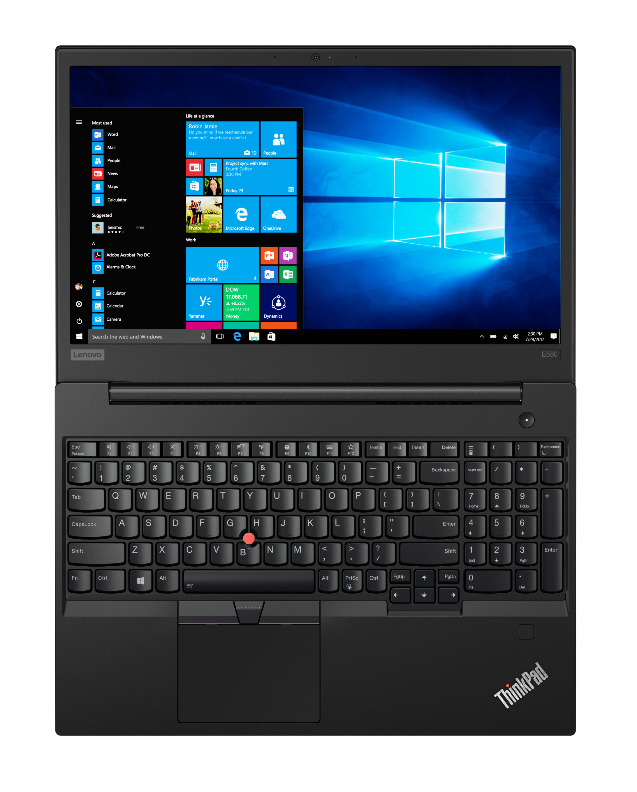 Фото  Ноутбук ThinkPad E580 (20KS005KRT)