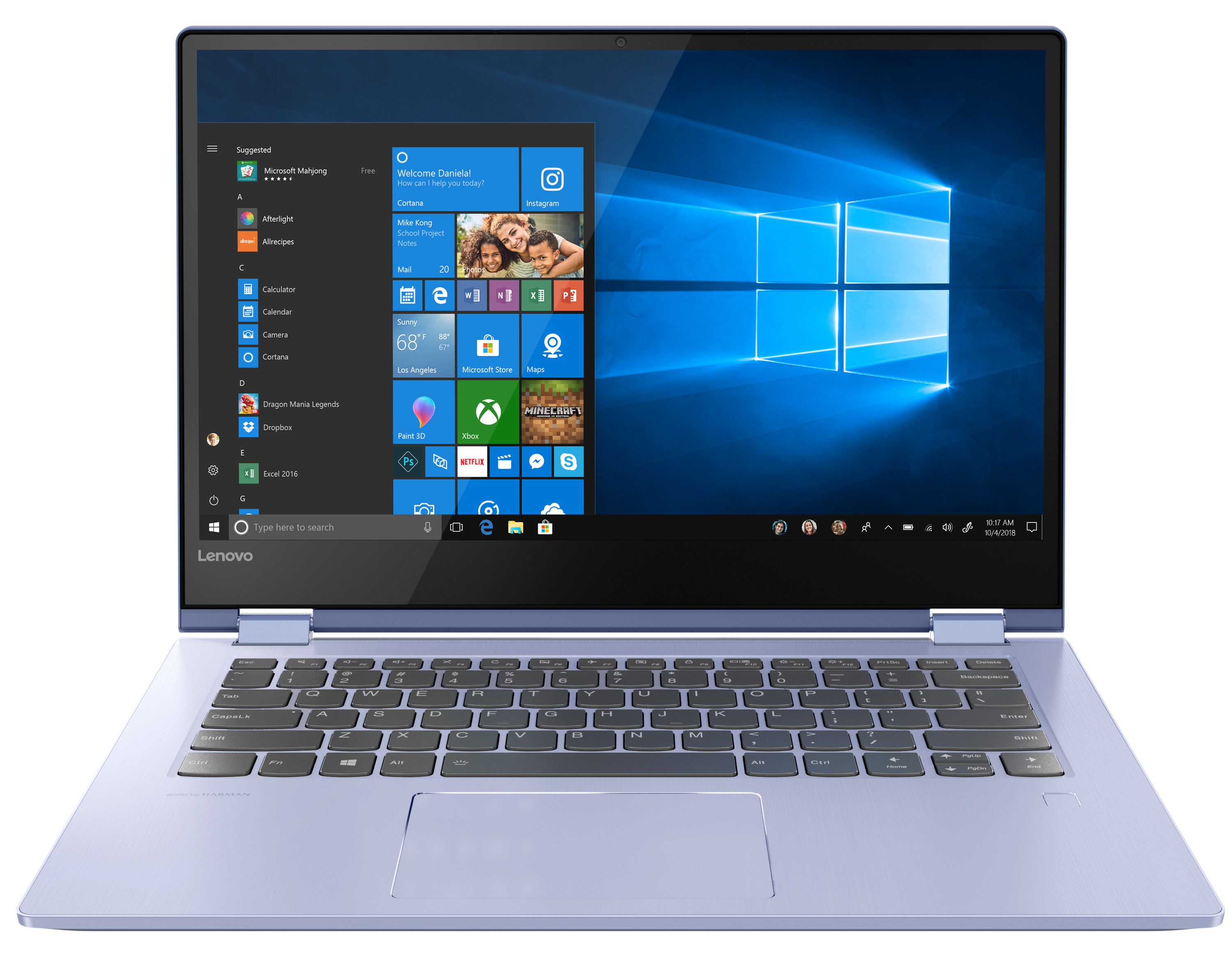 Фото  Ультрабук Lenovo Yoga 530 Liquid Blue (81EK00KURA)