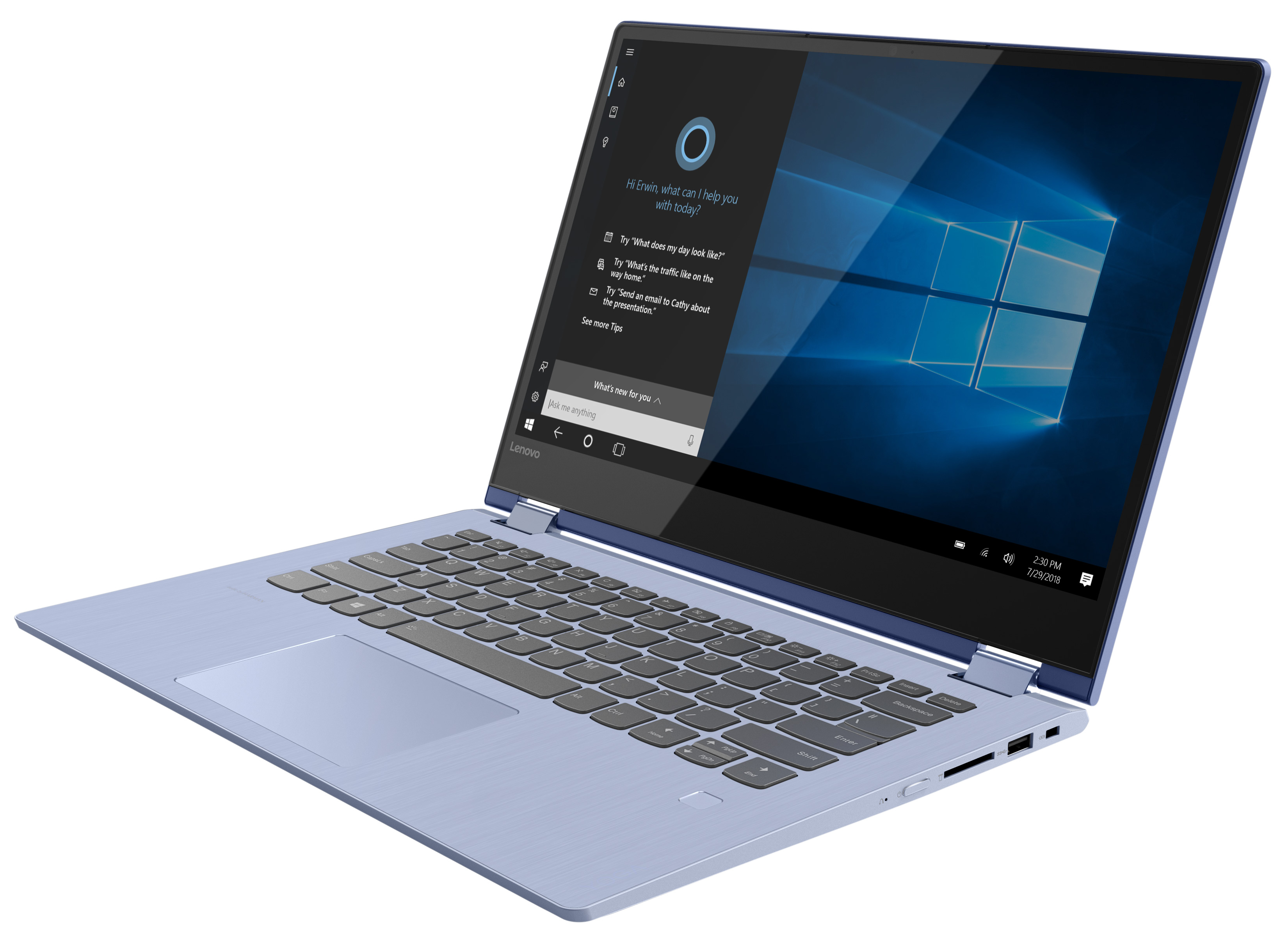 Фото  Ультрабук Lenovo Yoga 530 Liquid Blue (81EK00L1RA)