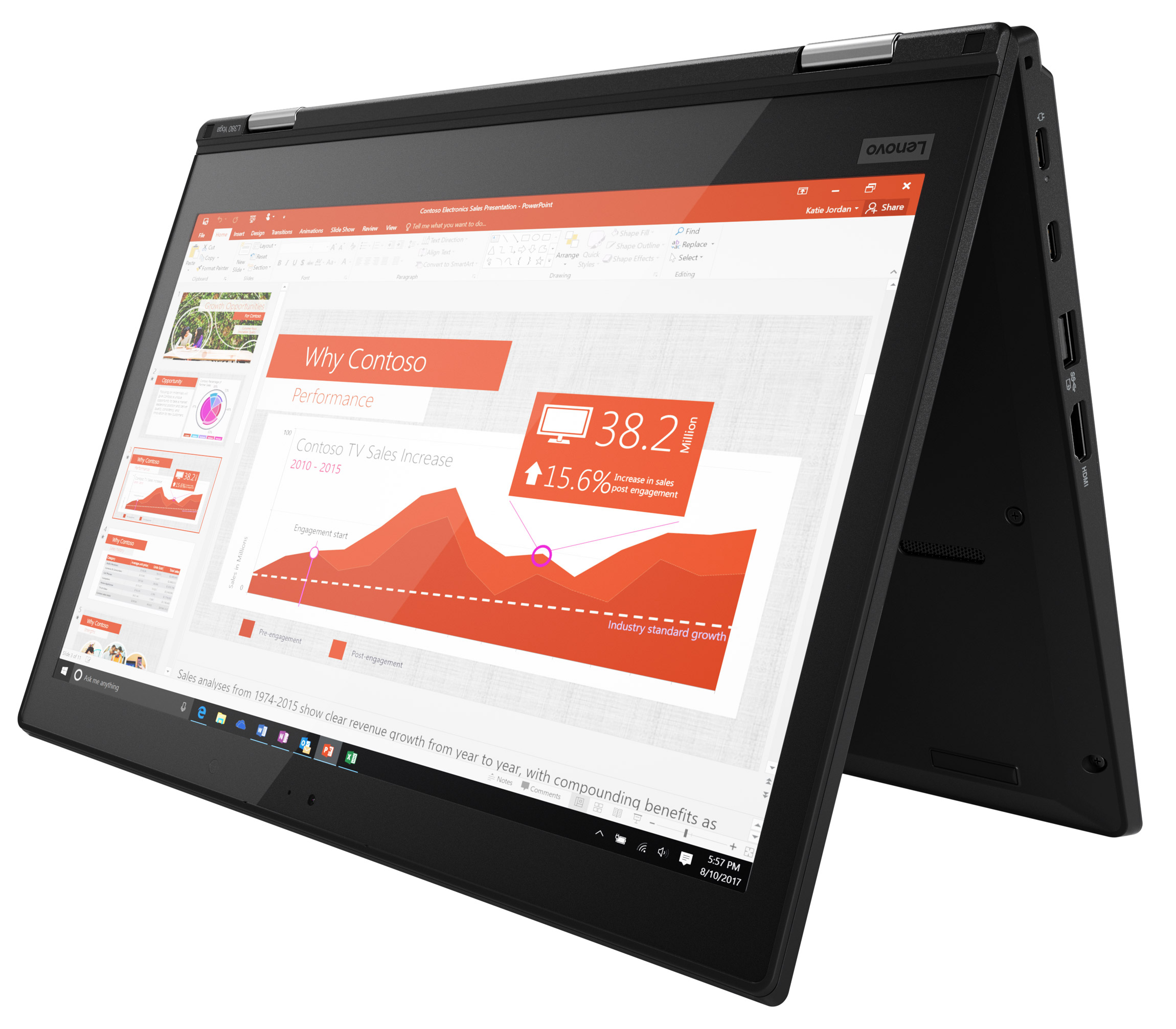 Фото  Ноутбук ThinkPad L380 Yoga (20M7001JRT)