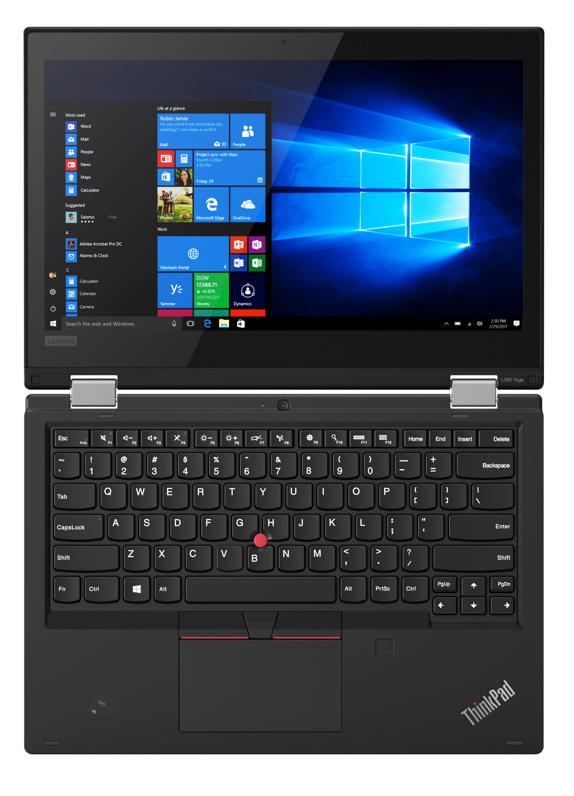 Фото  Ноутбук ThinkPad L380 Yoga (20M70027RT)
