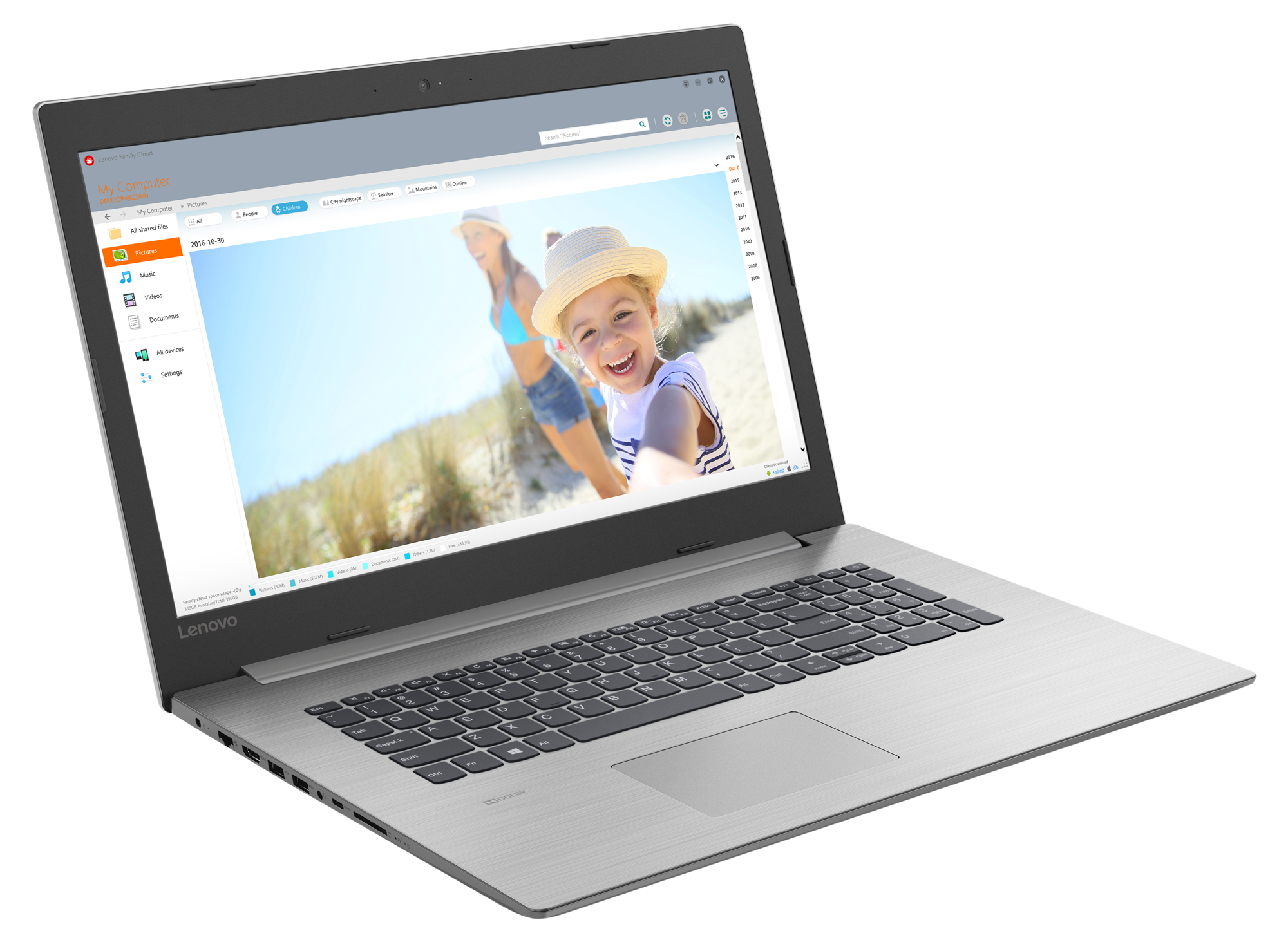 Фото  Ноутбук Lenovo ideapad 330-17IKBR Platinum Grey (81DM007HRA)