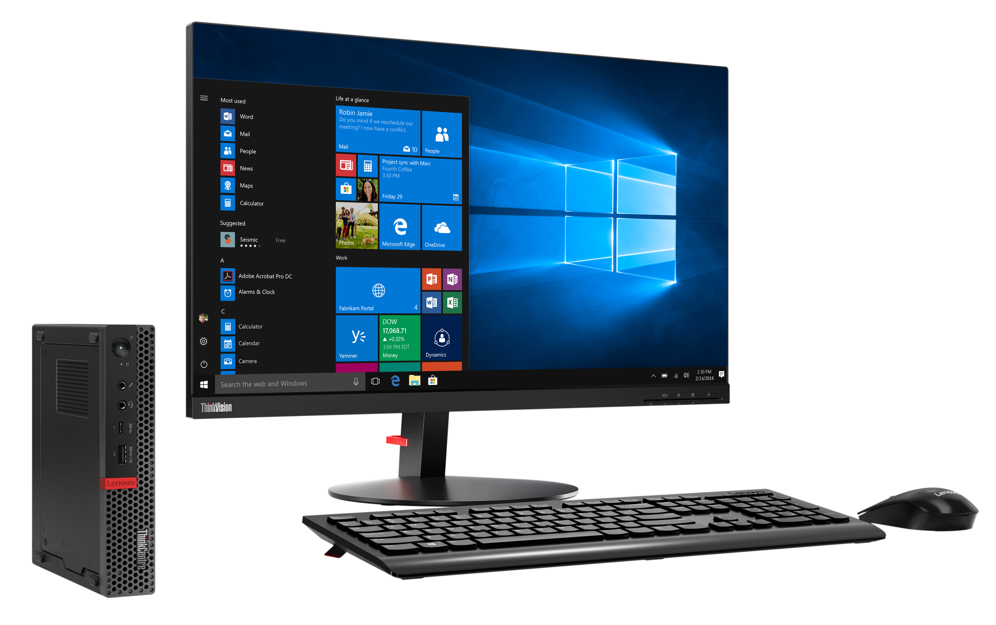 Фото  Компьютер Lenovo ThinkCentre M920q Tiny (10RS002CRU)