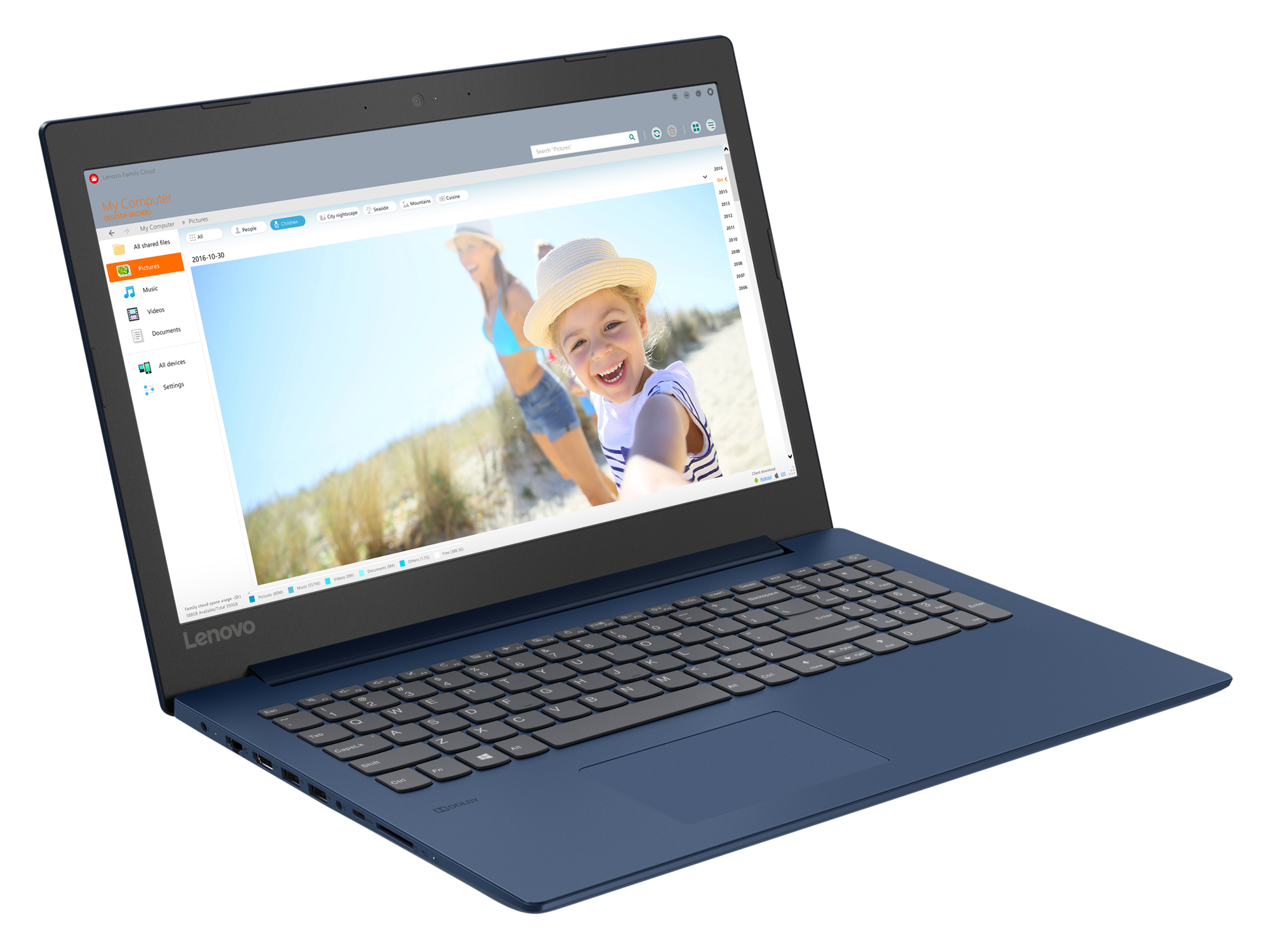 Фото  Ноутбук Lenovo ideapad 330-15 Midnight Blue (81D100HDRA)