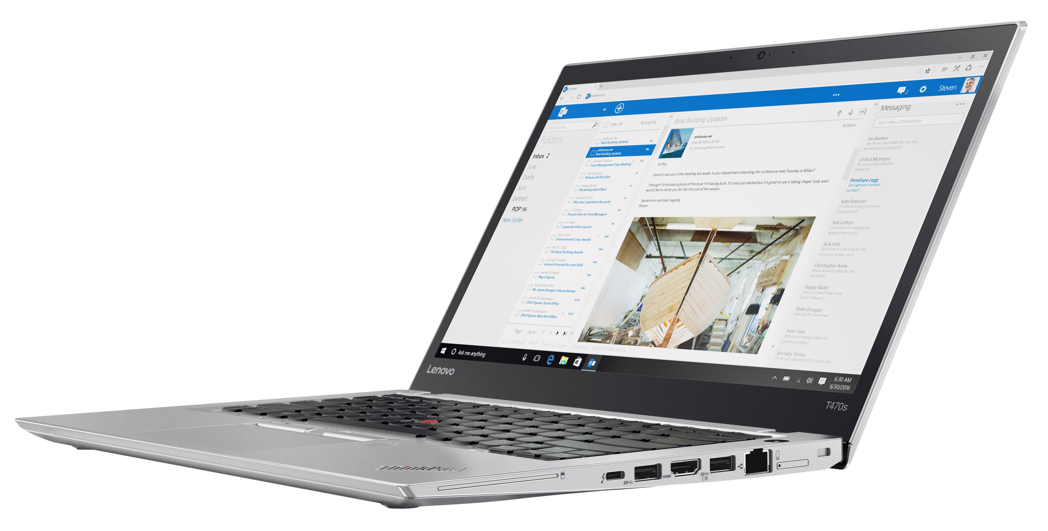 Фото  Ноутбук ThinkPad T470s (20HF004NRT)