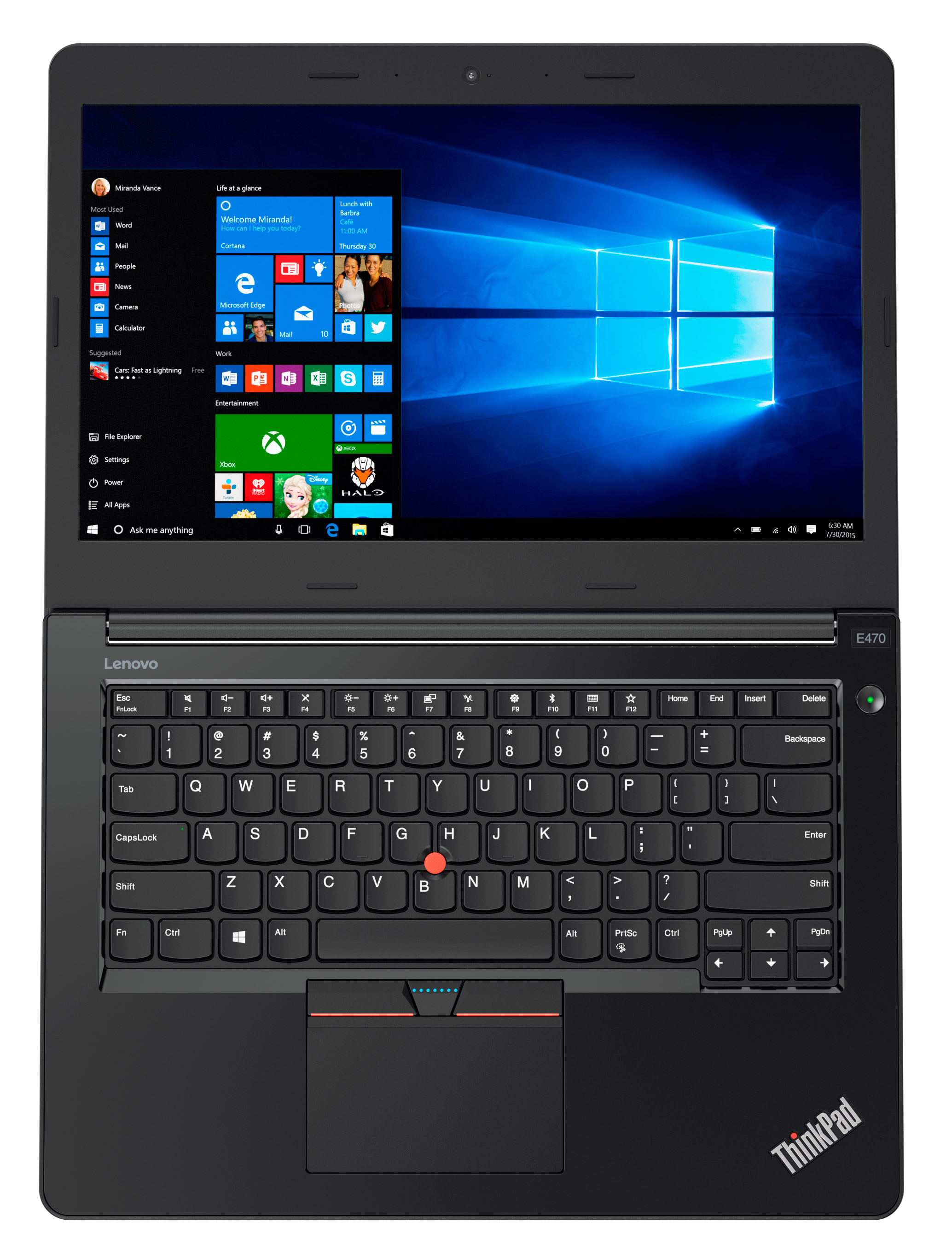 Фото  Ноутбук ThinkPad E470 (20H1006JRT)